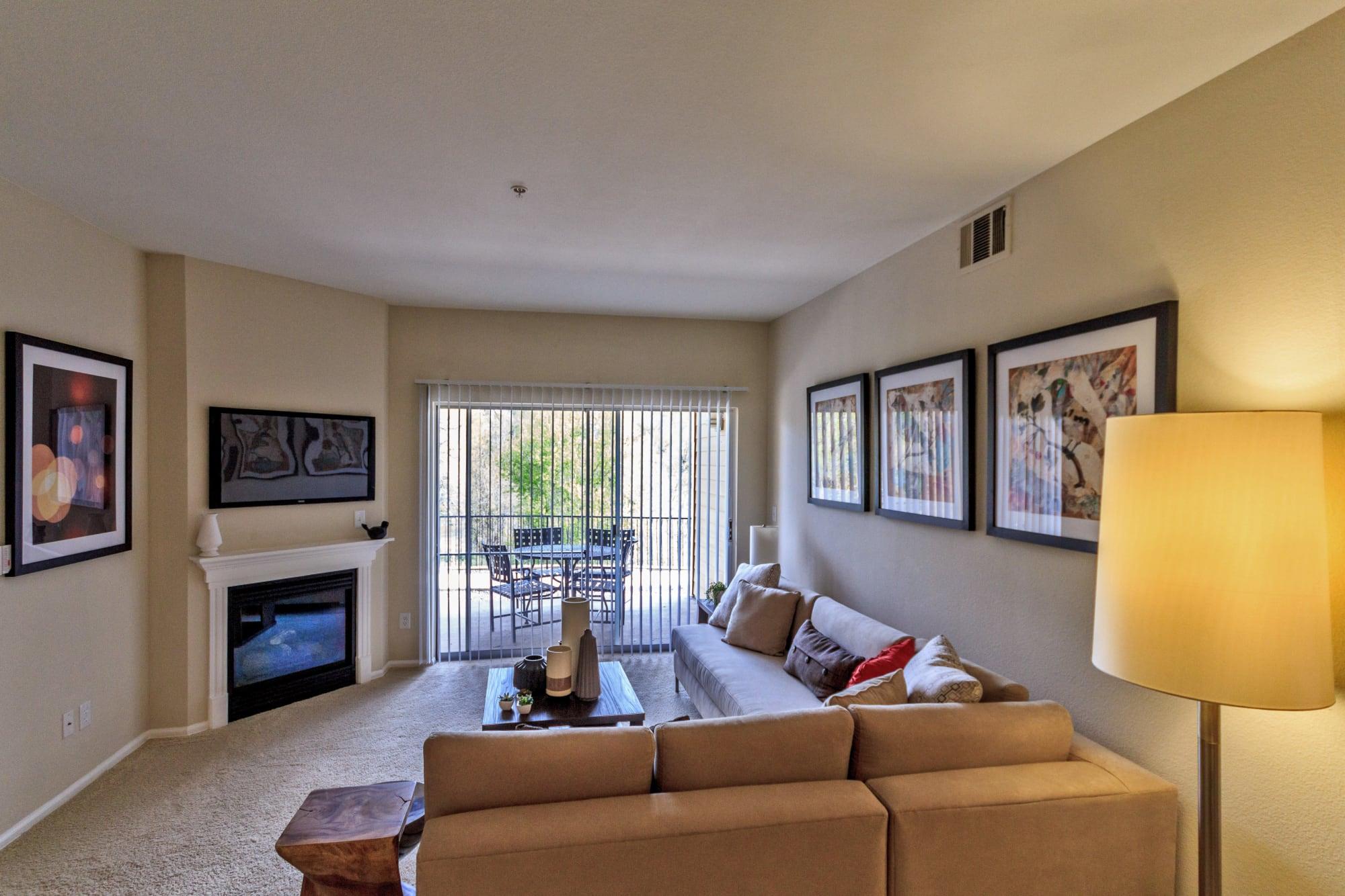 living room model shot