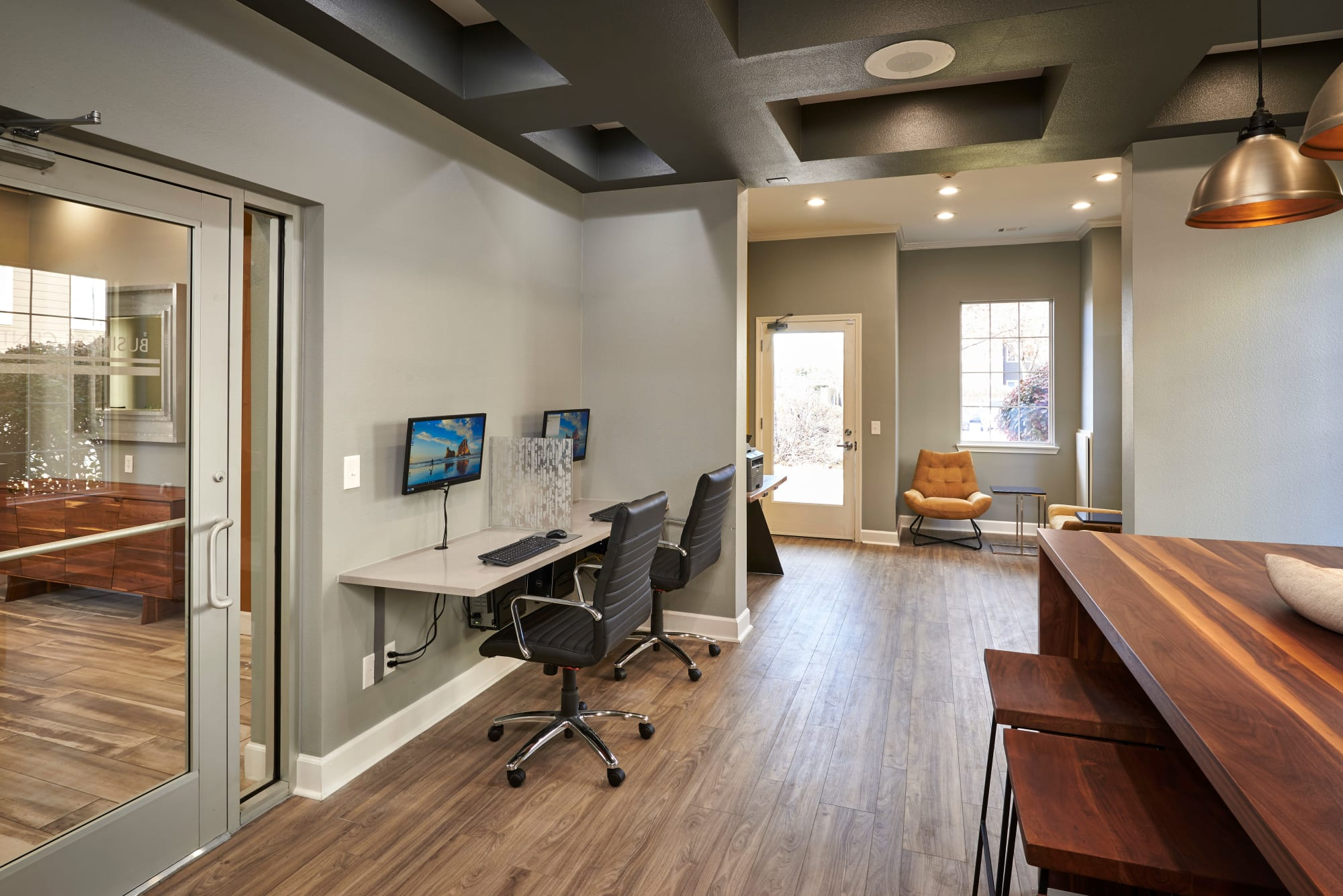 Business center at Legend Oaks Apartments
