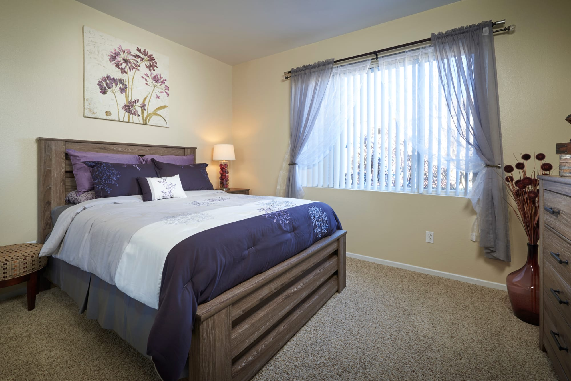 Bedroom At Hawthorne Hill Apartments