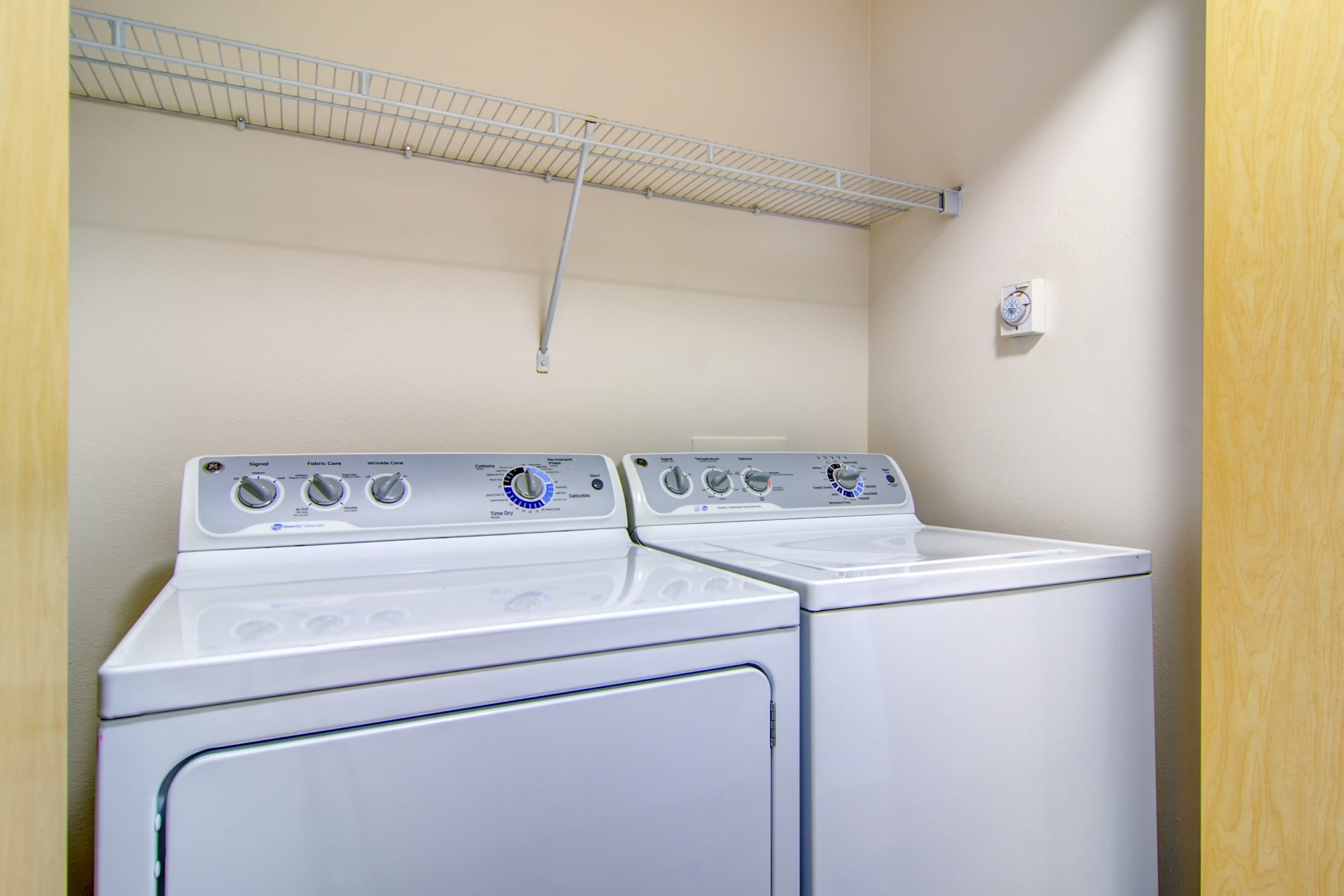 Washer and dryer at The Addison Apartments in Vancouver, Washington