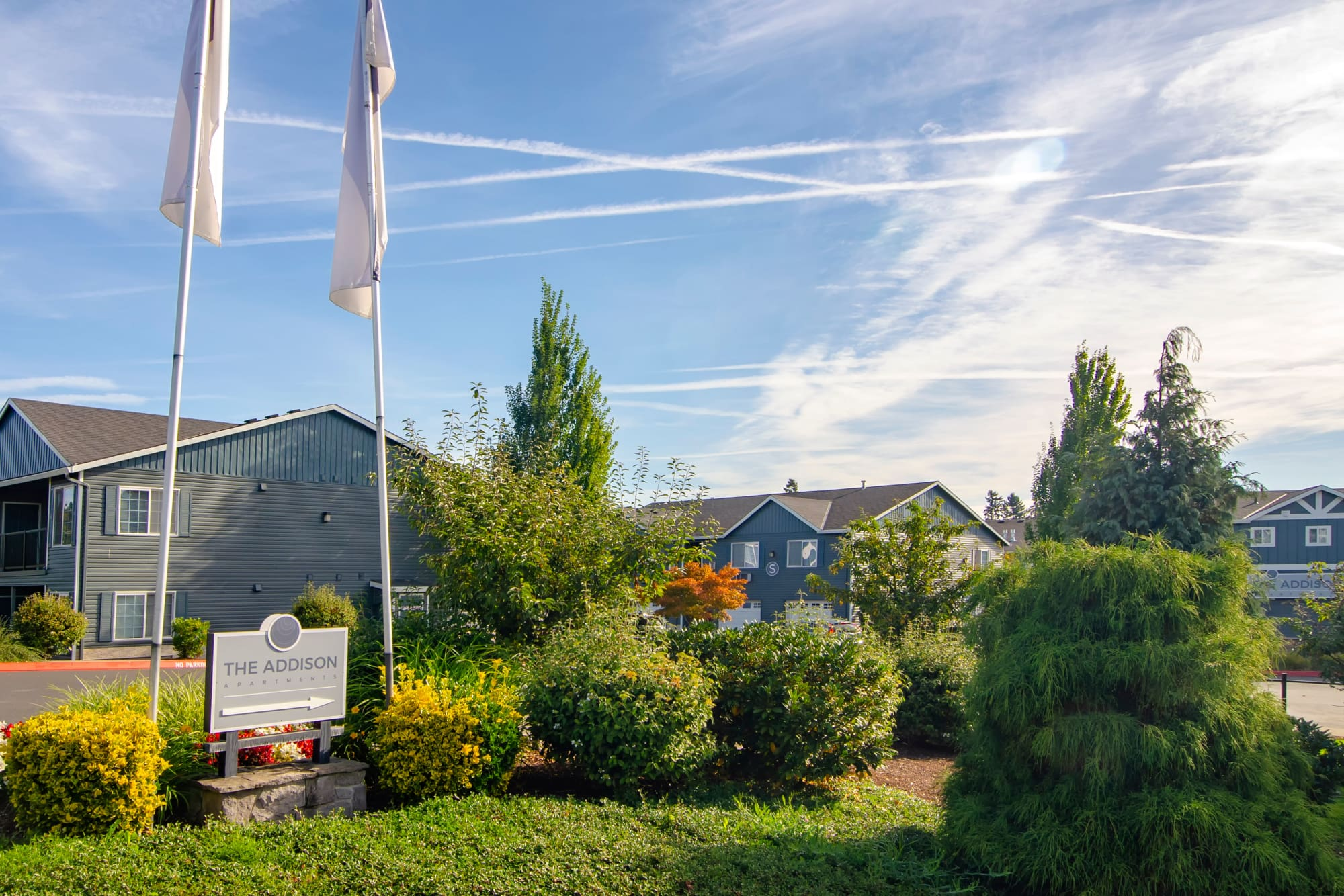Monument skyline at The Addison Apartments in Vancouver, Washington