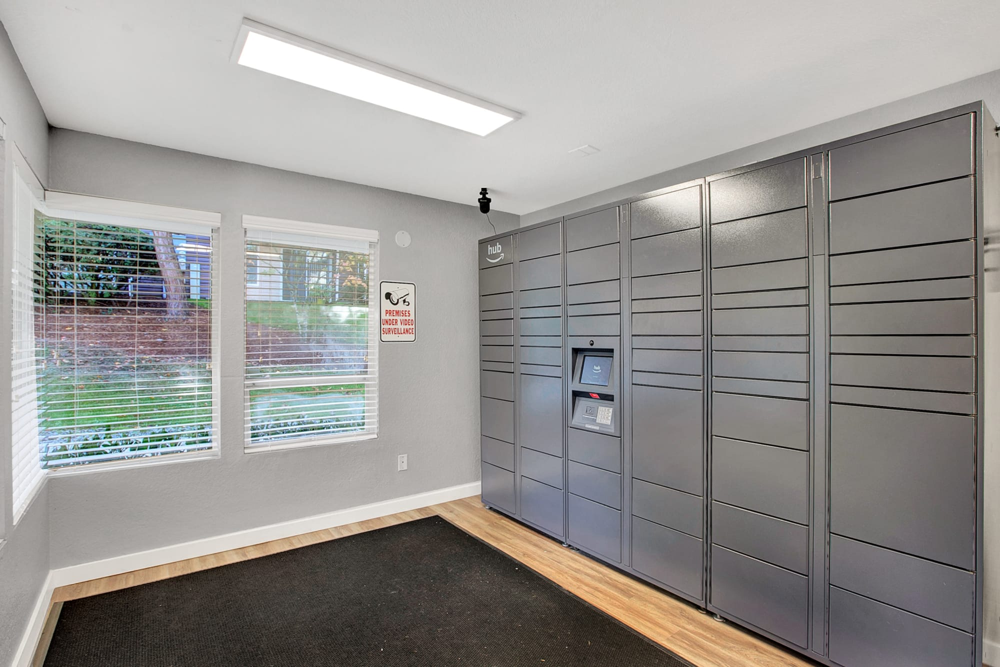 Package lockers at Park South Apartments in Seattle, Washington