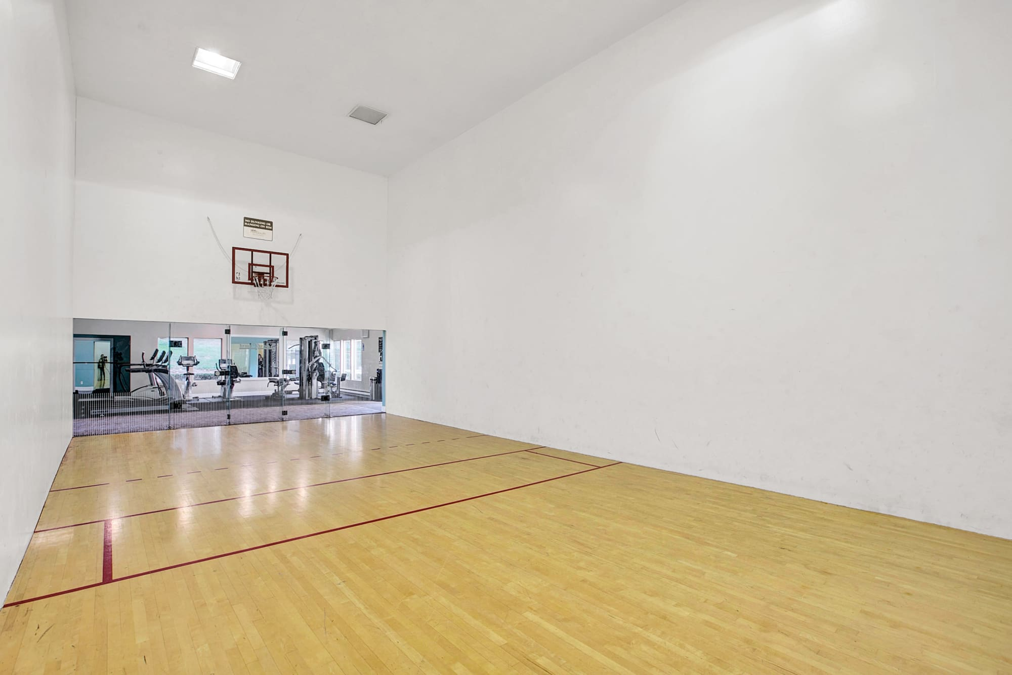 Squash Court and basketball court at Park South Apartments in Seattle, WA