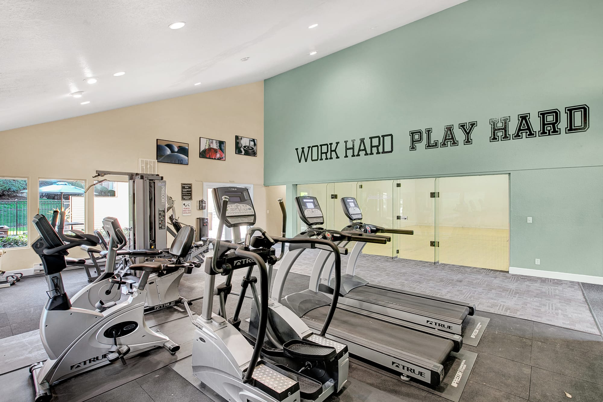 Exercise Facility with cardio machines at Park South Apartments in Seattle, WA