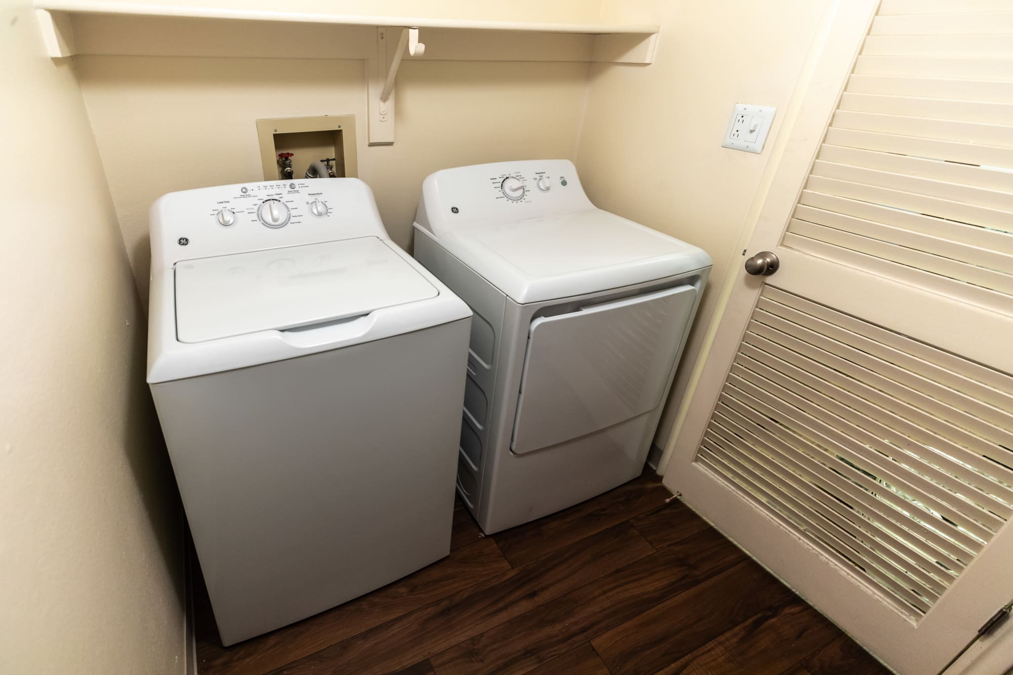Washer and dryer combo at Shadowbrook Apartments in West Valley City, Utah