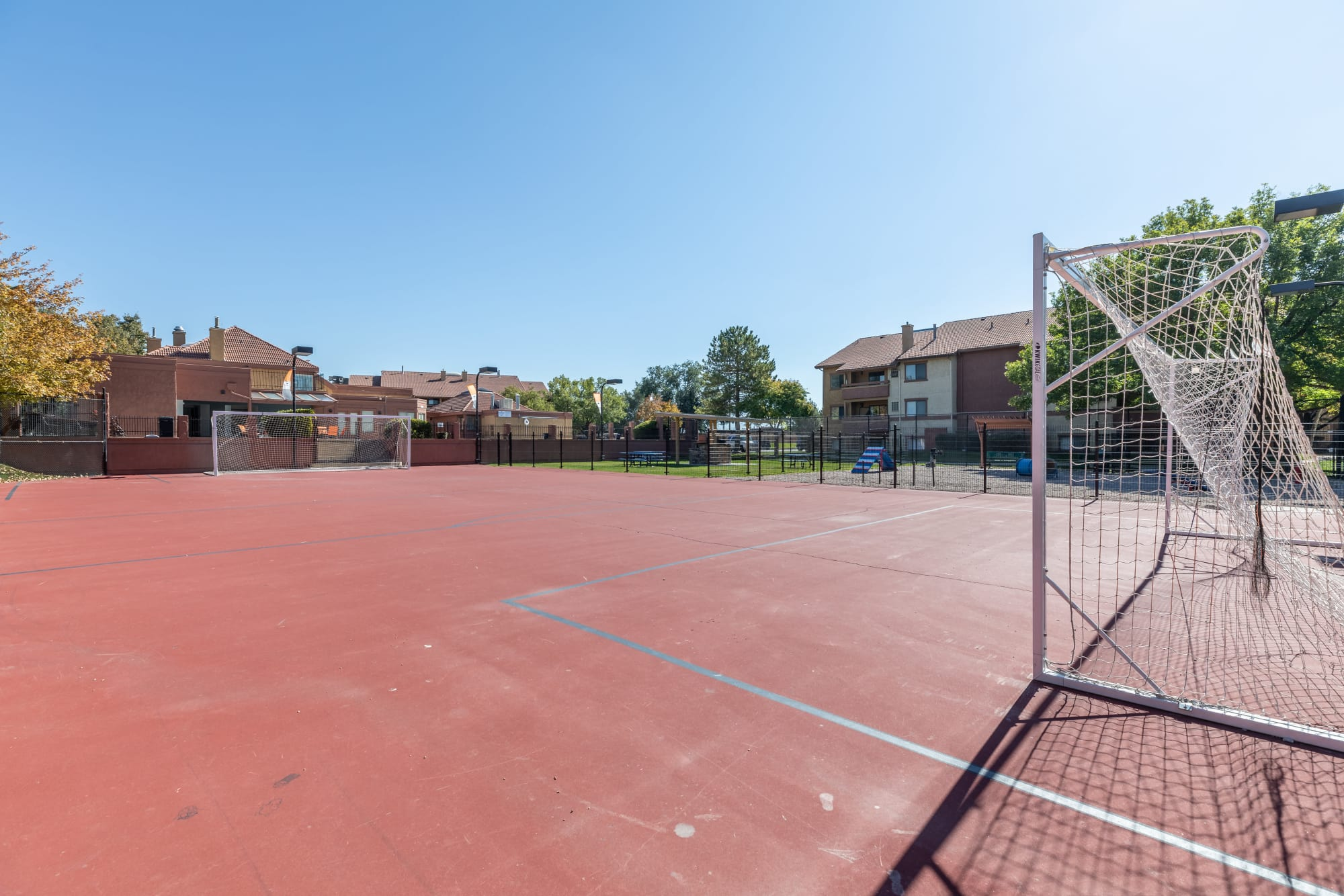 Basketball and soccer court at Shadowbrook Apartments in West Valley City, Utah