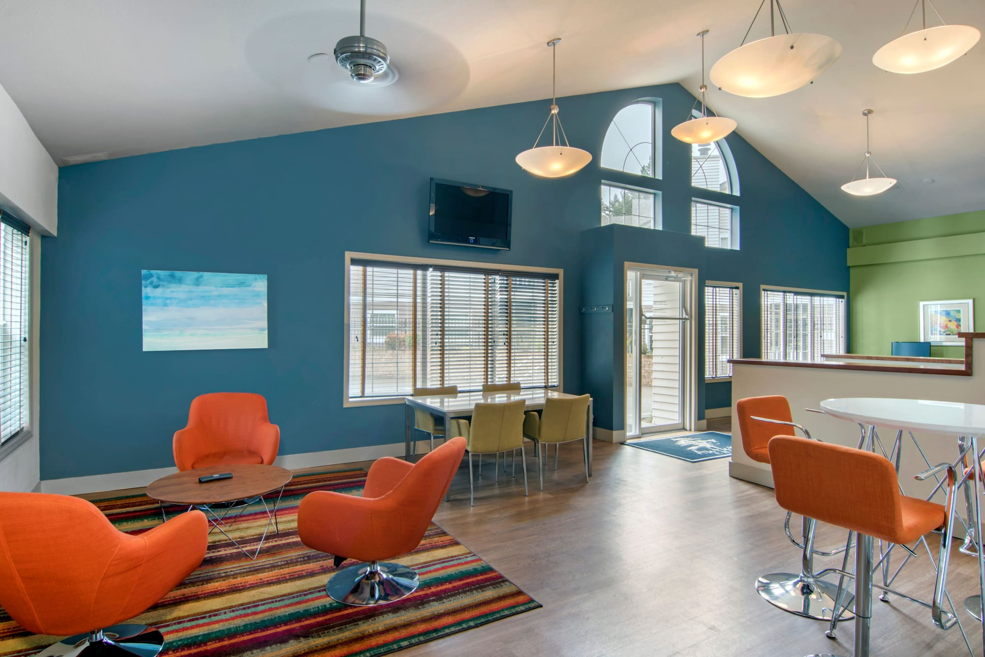 interior clubhouse lounge area