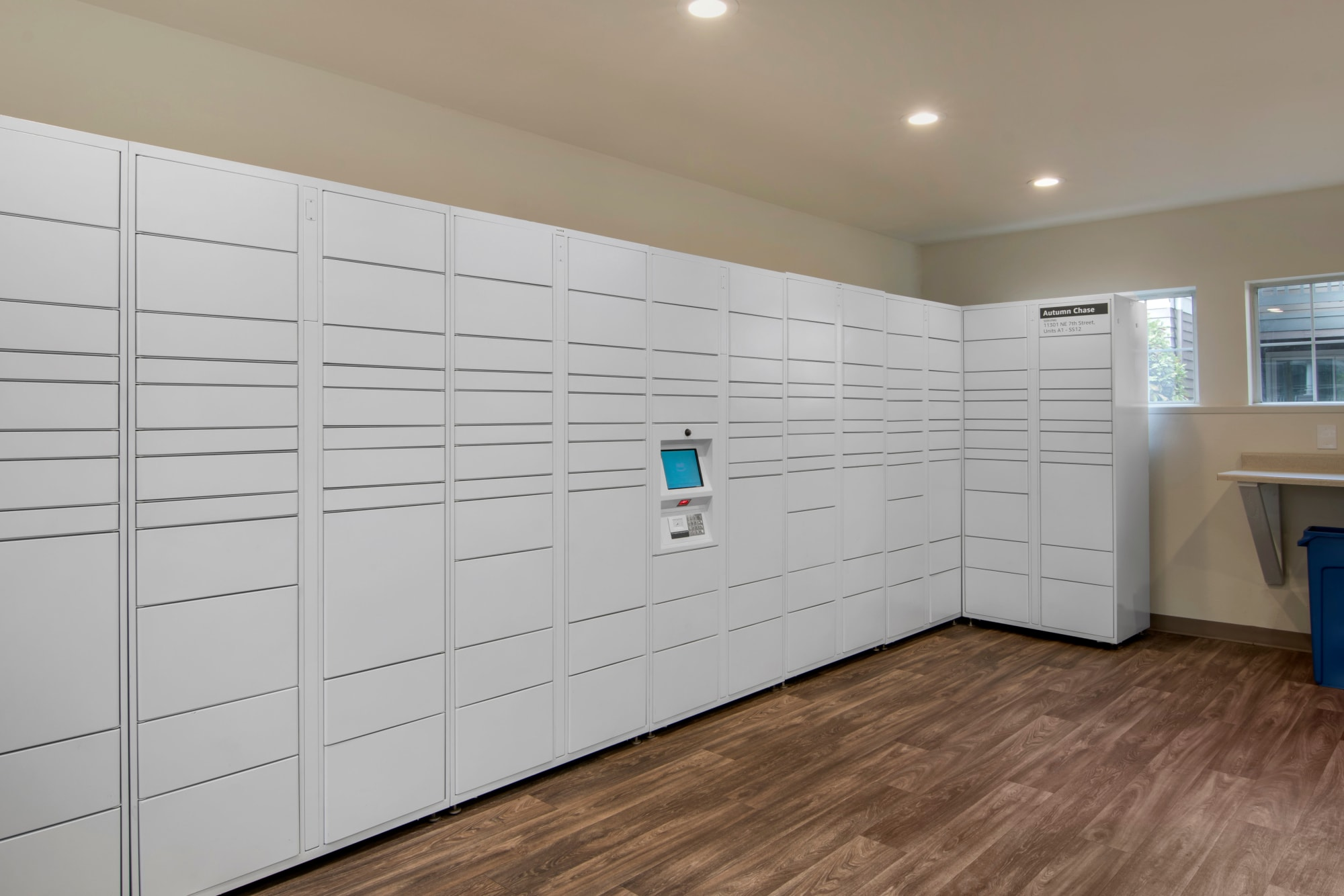 24-hour package lockers with Amazon hub at Autumn Chase Apartments in Vancouver, Washington