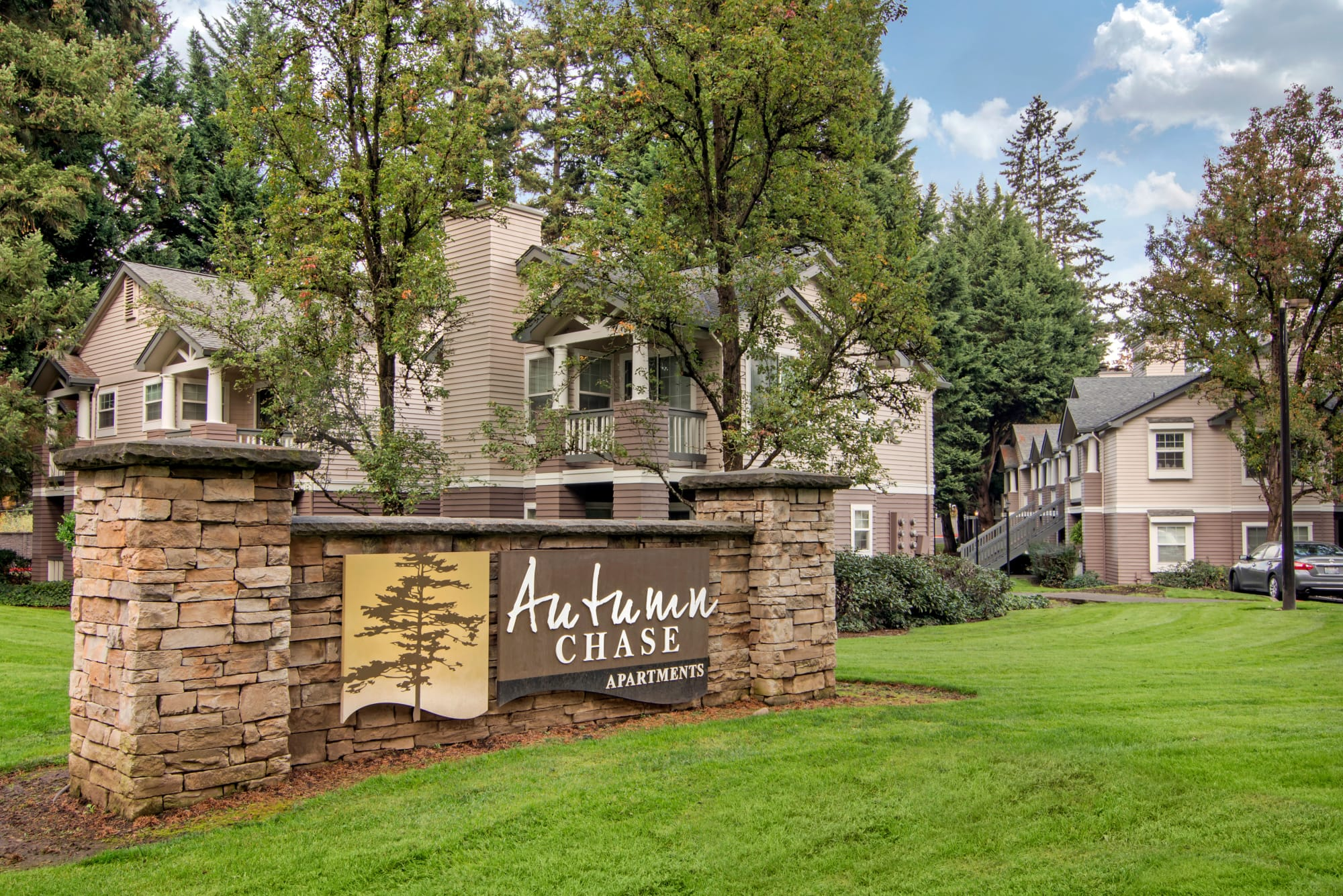 Front Sign At Autumn Chase Apartments