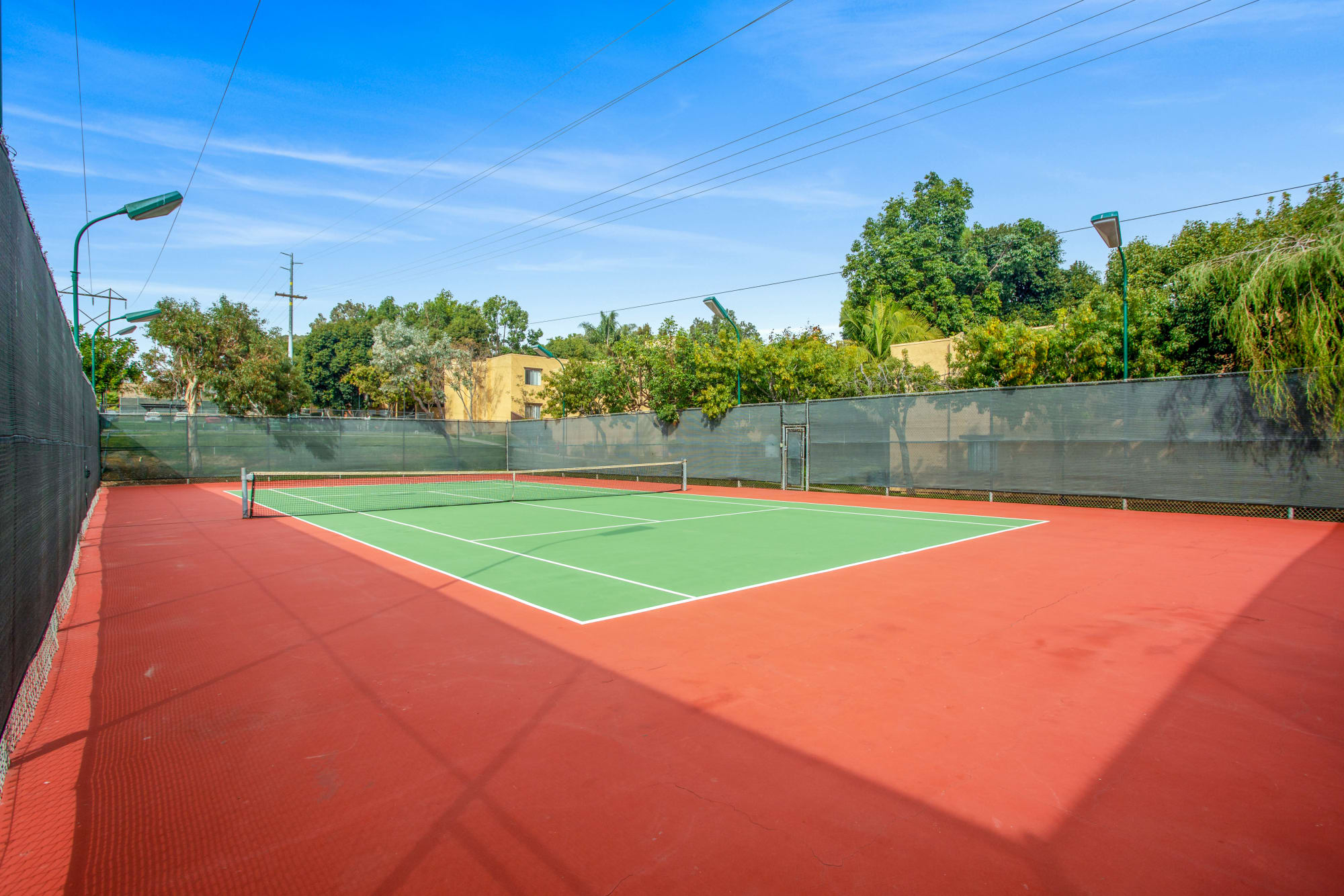 Tennis Courtyard at Shadow Ridge Apartments in Oceanside, CA