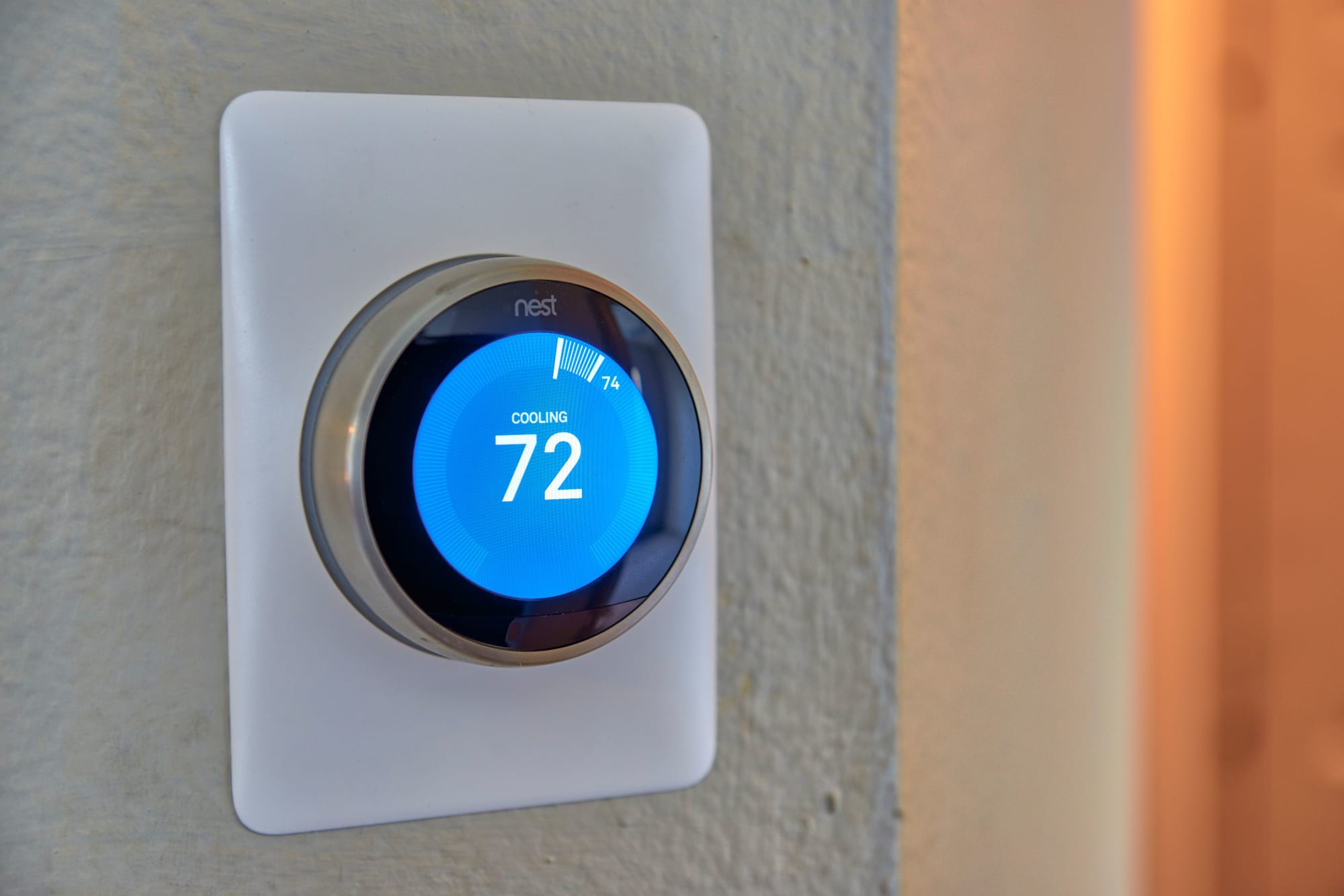 Nest smart digital thermostat at Palisades Sierra Del Oro