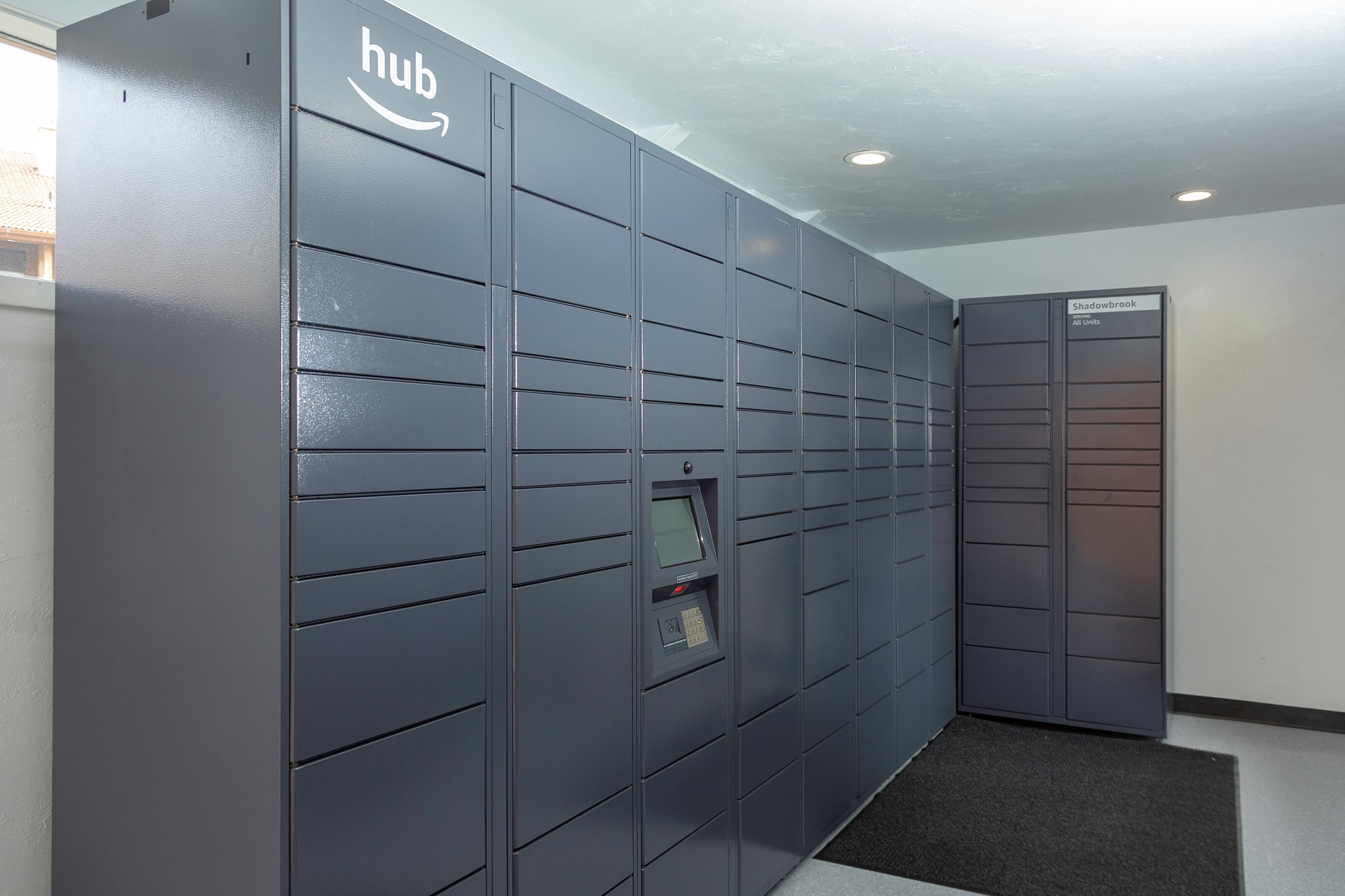 24-hour package lockers at Shadowbrook Apartments in West Valley City, Utah