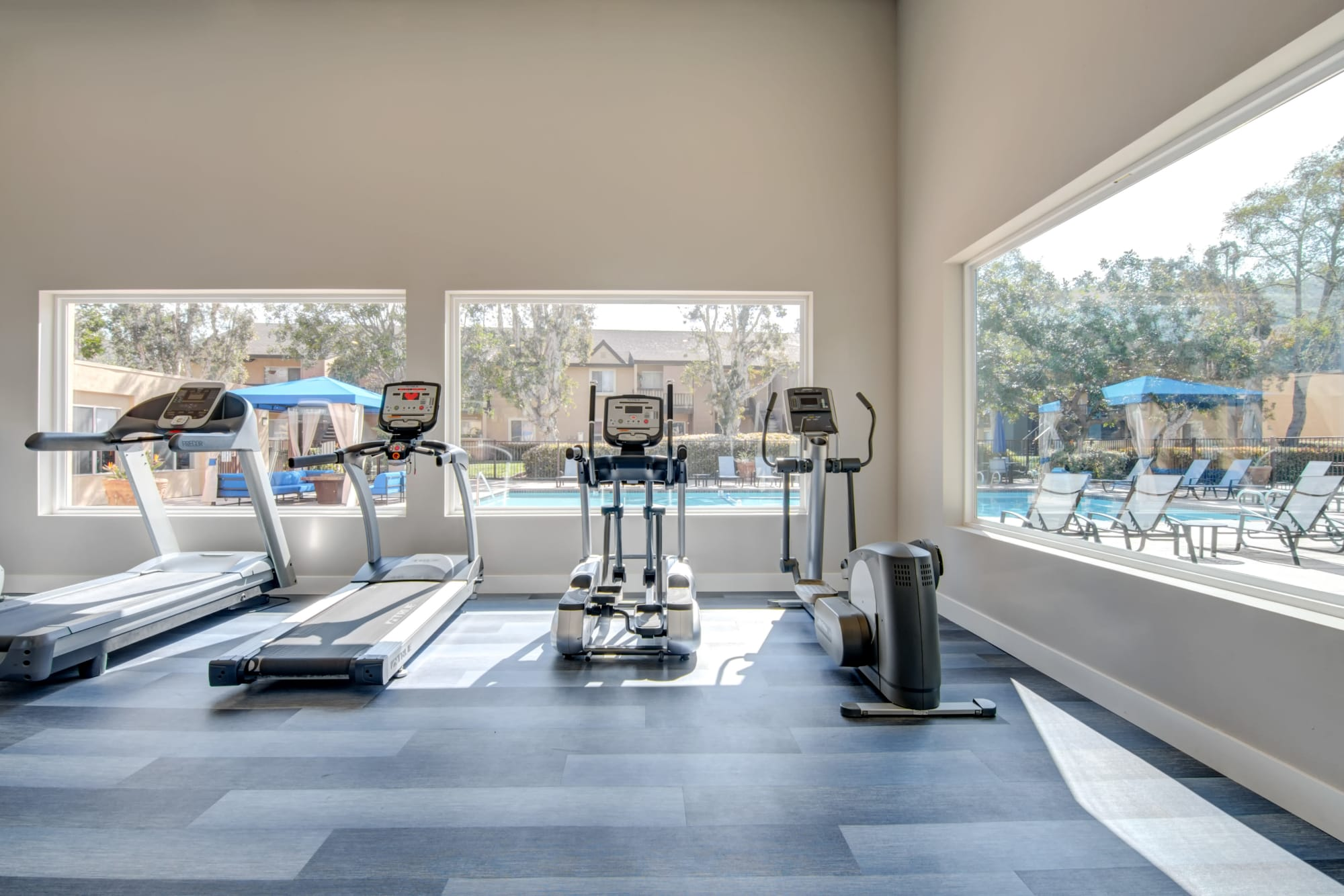 Newly Renovated Fully equipped Fitness Center at Terra Nova Villas in Chula Vista, CA