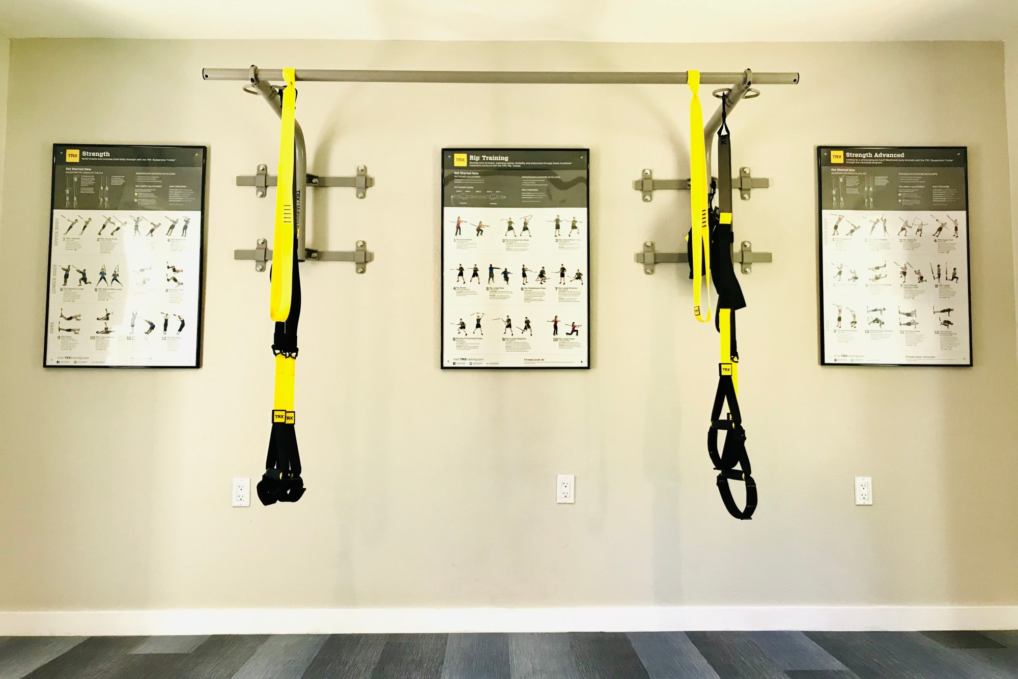 TRX bands in the fitness center