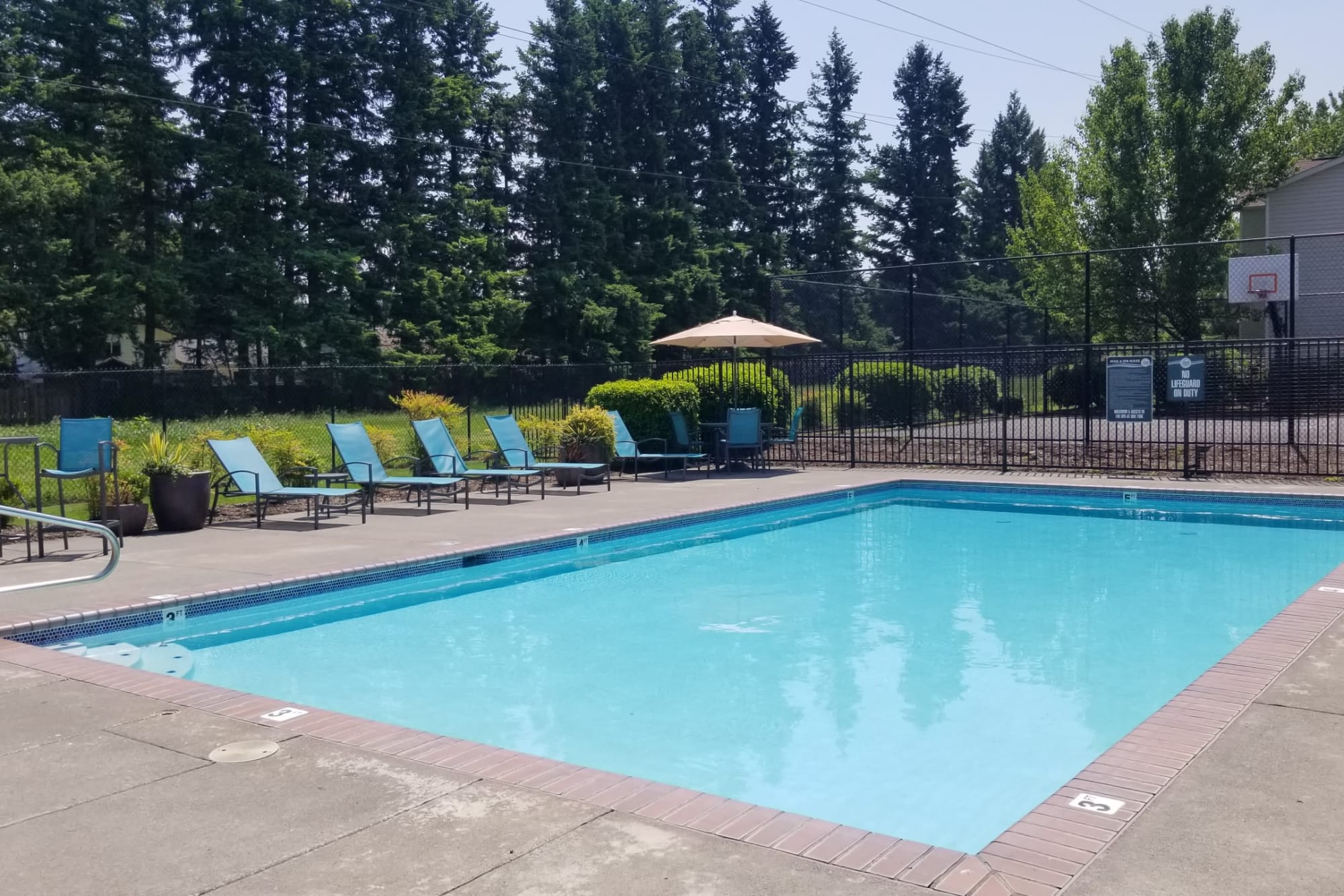 Community pool at The Landings at Morrison Apartments in Gresham, Oregon