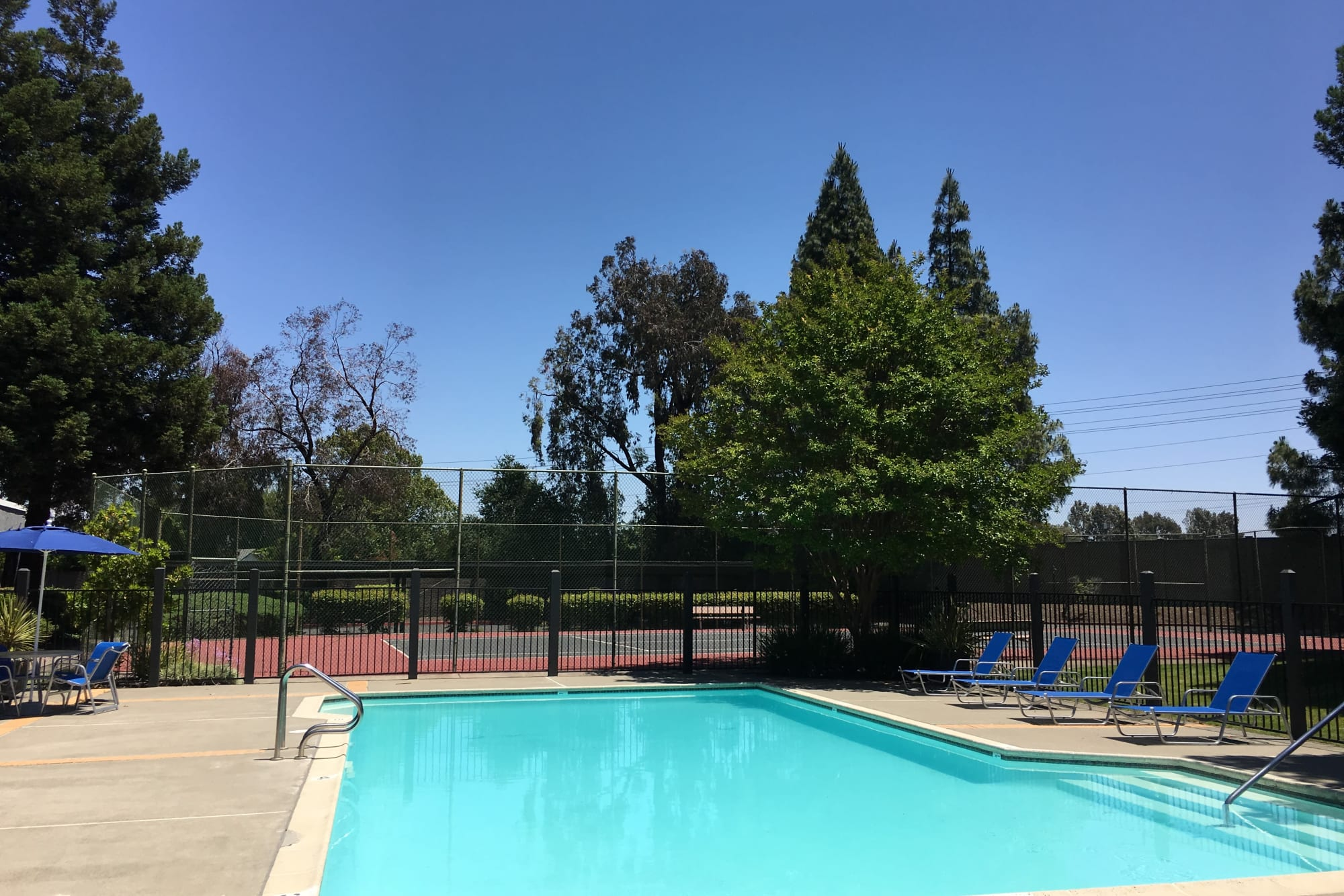 A gorgeous pool for hot summer days at Avery Park Apartments in Fairfield, California