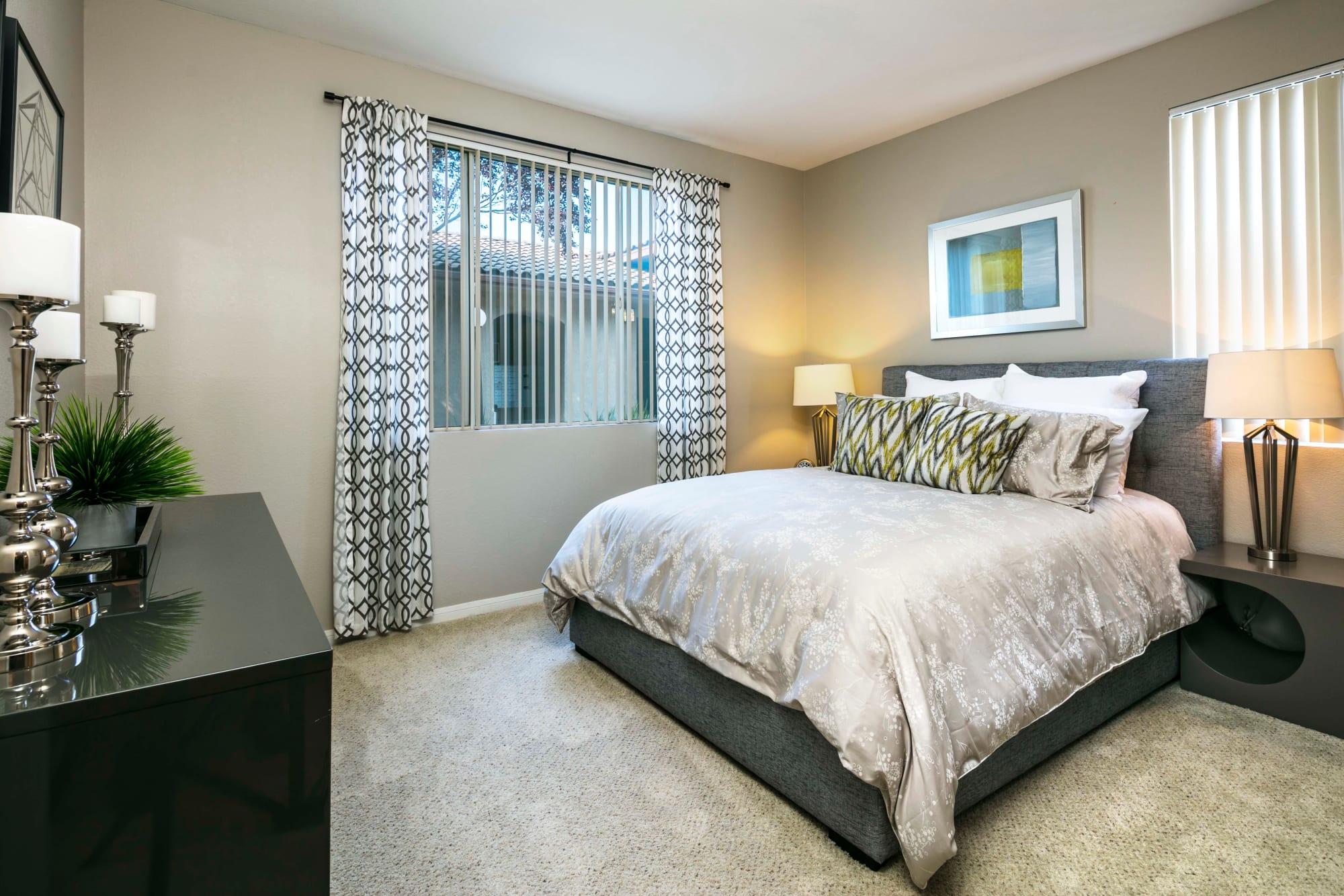 Spacious bedroom at Miramonte and Trovas in Sacramento, California