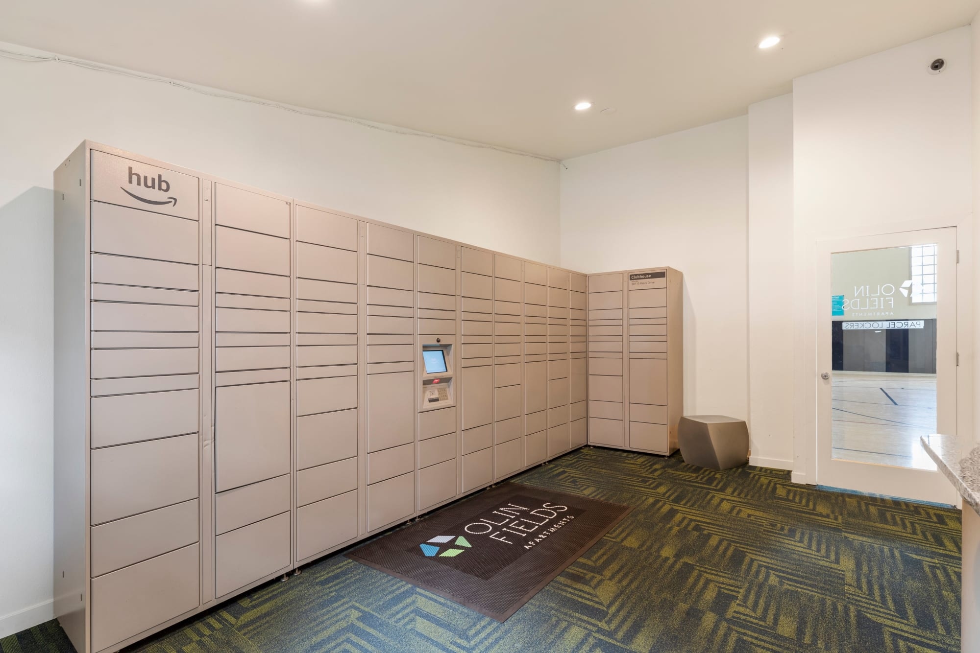 24-Hour package lockers of Olin Fields Apartments