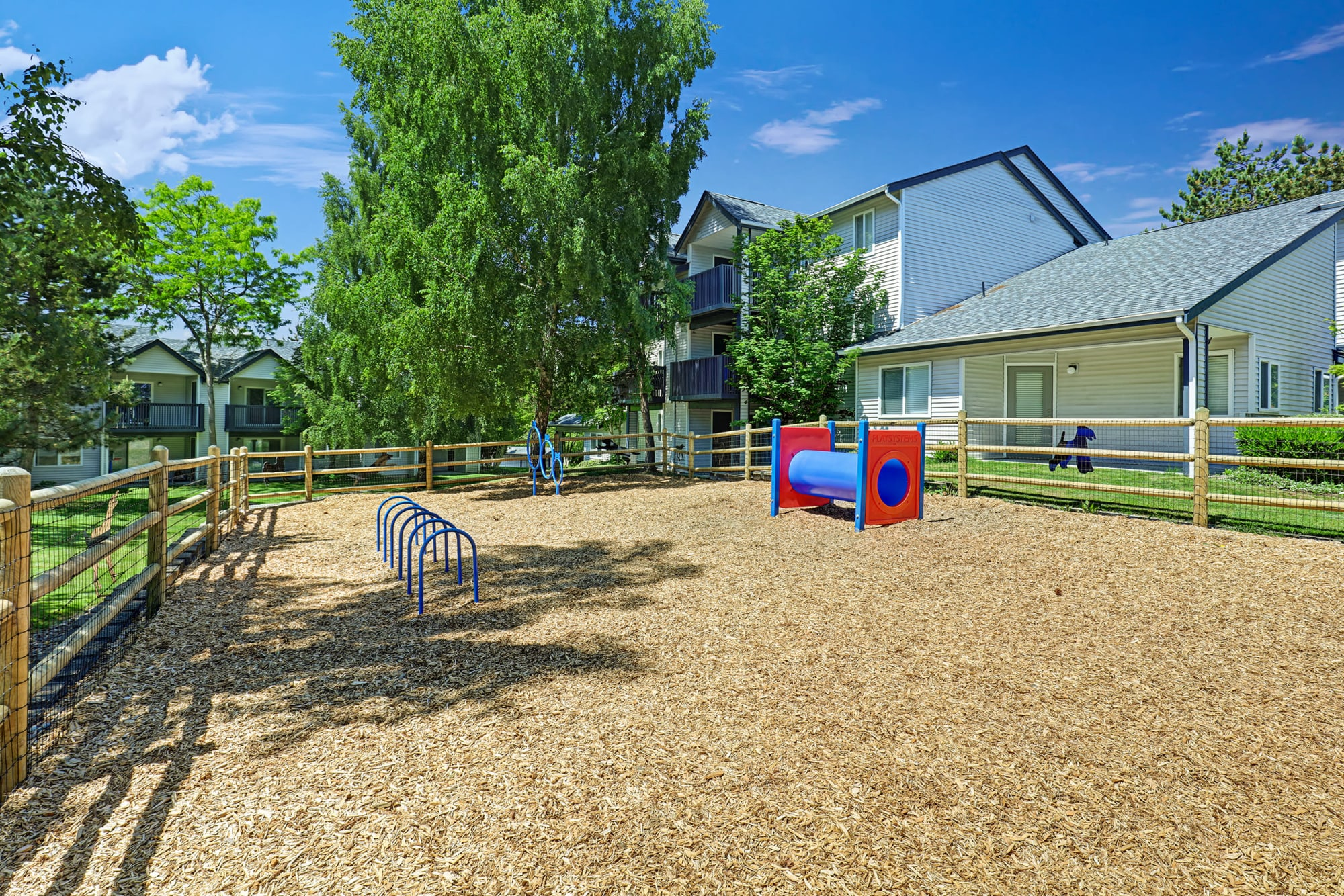 Enjoy the convenience of a friendly dog park onsite at Cascade Ridge in Silverdale, Washington