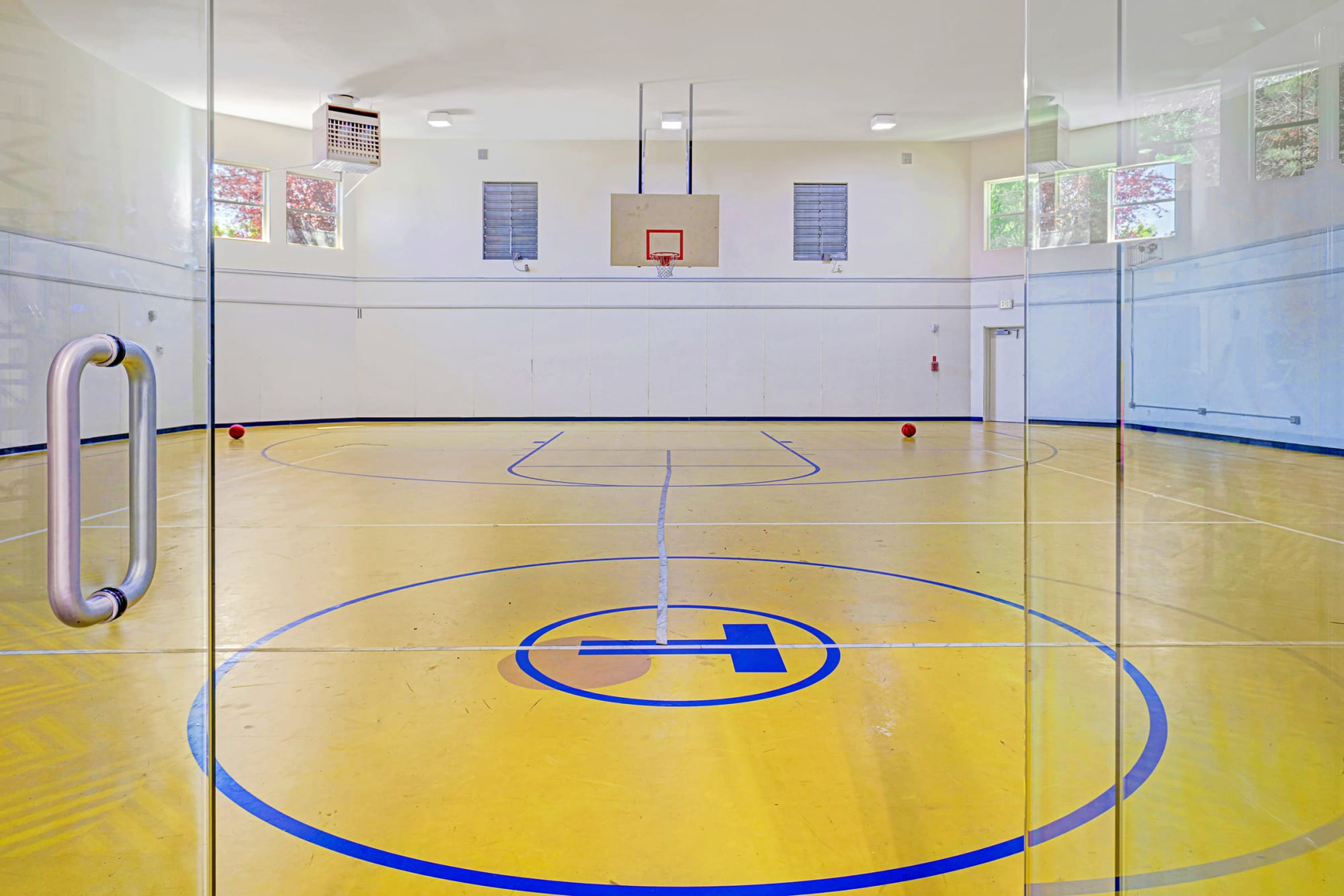 Community basketball court at Cascade Ridge in Silverdale, Washington