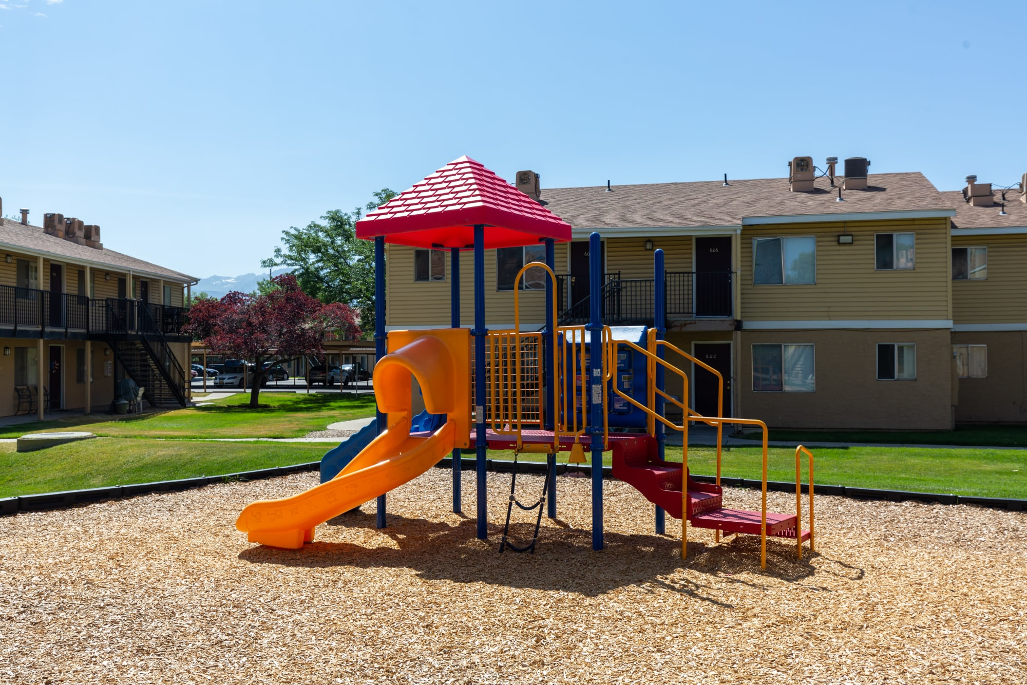 Children's playground at Callaway Apartments in Taylorsville, Utah