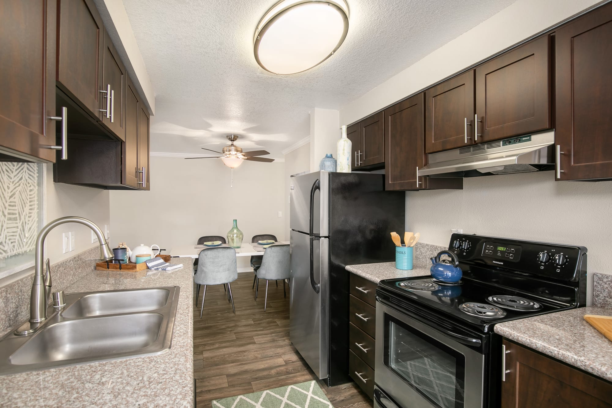 Fully Equipped Kitchen with stainless steel appliances at Walnut Grove Landing Apartments in Vancouver, WA