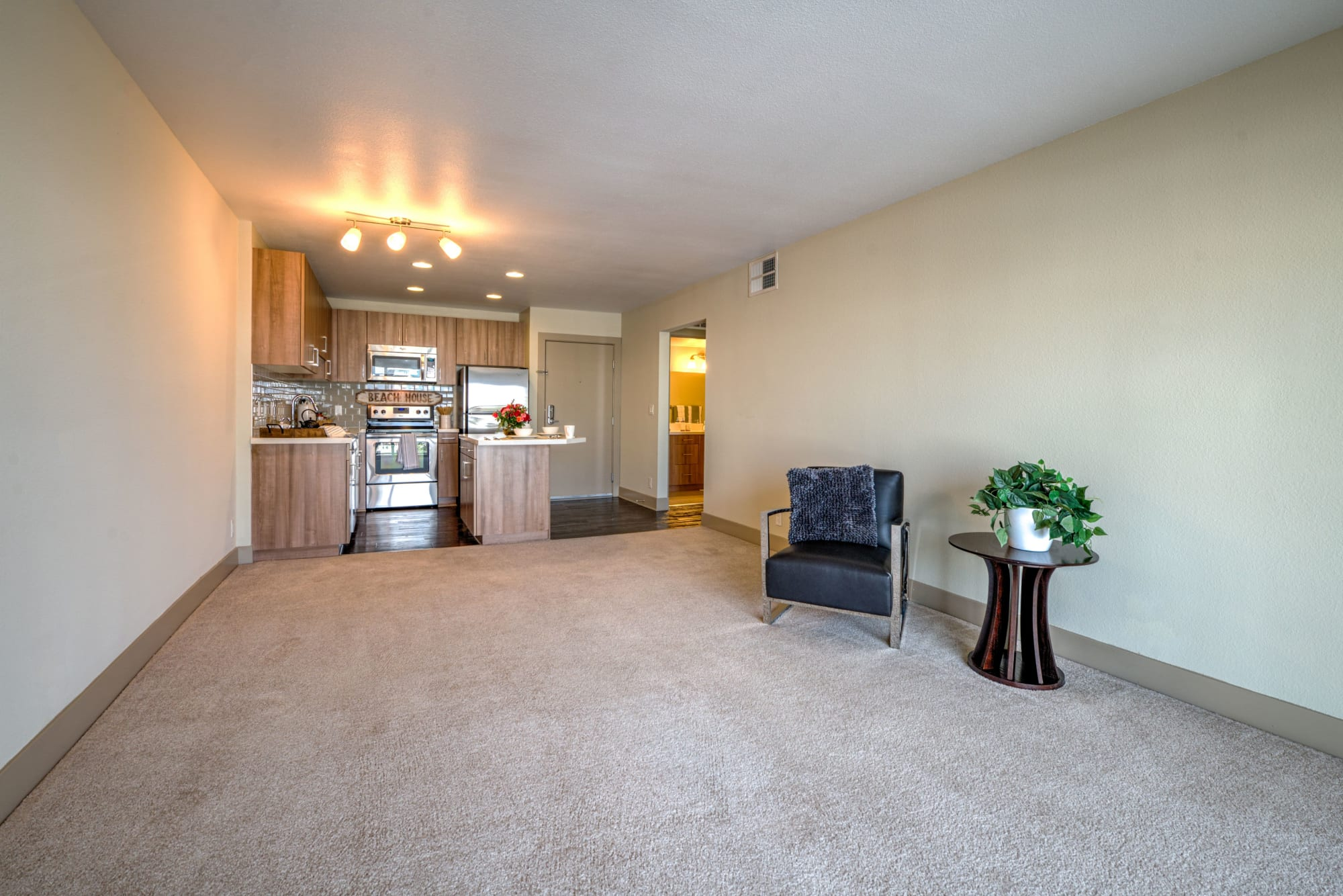 Large floor plans with beautiful views and large living room at Harborside Marina Bay Apartments in Marina del Rey, California