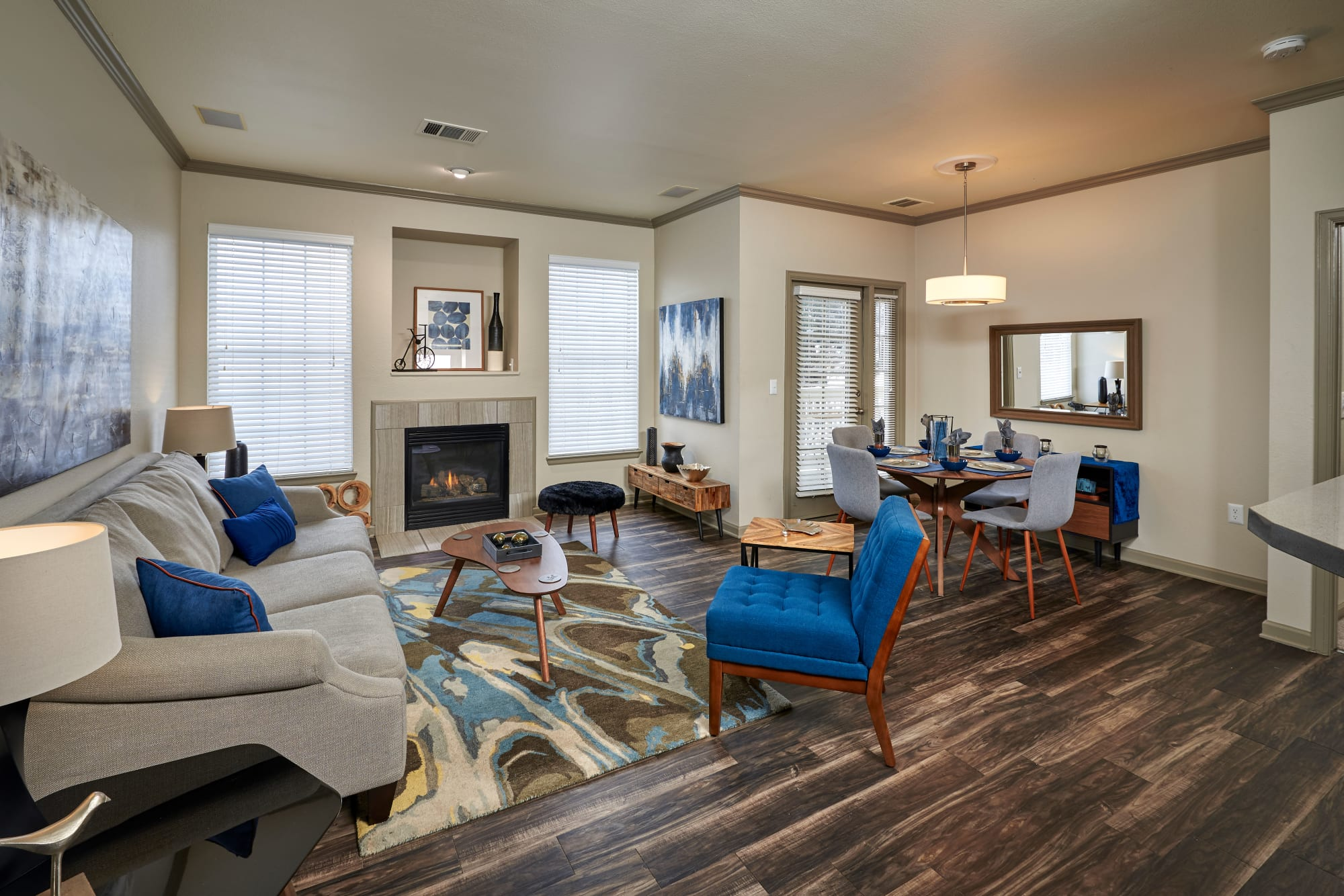 Living Room at Gateway Park Apartments in Denver, CO