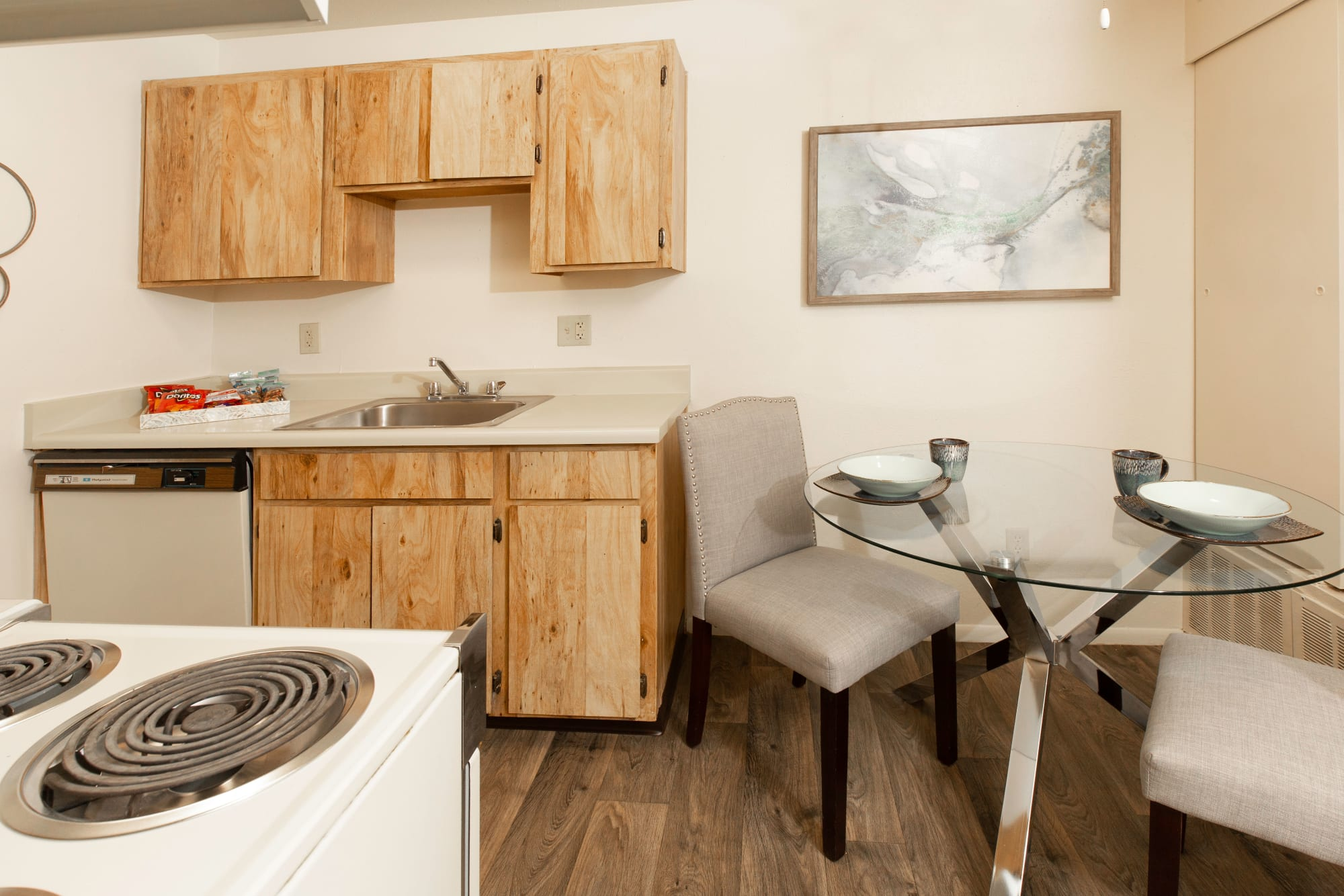 Fully equipped kitchen at Callaway Apartments in Taylorsville, Utah