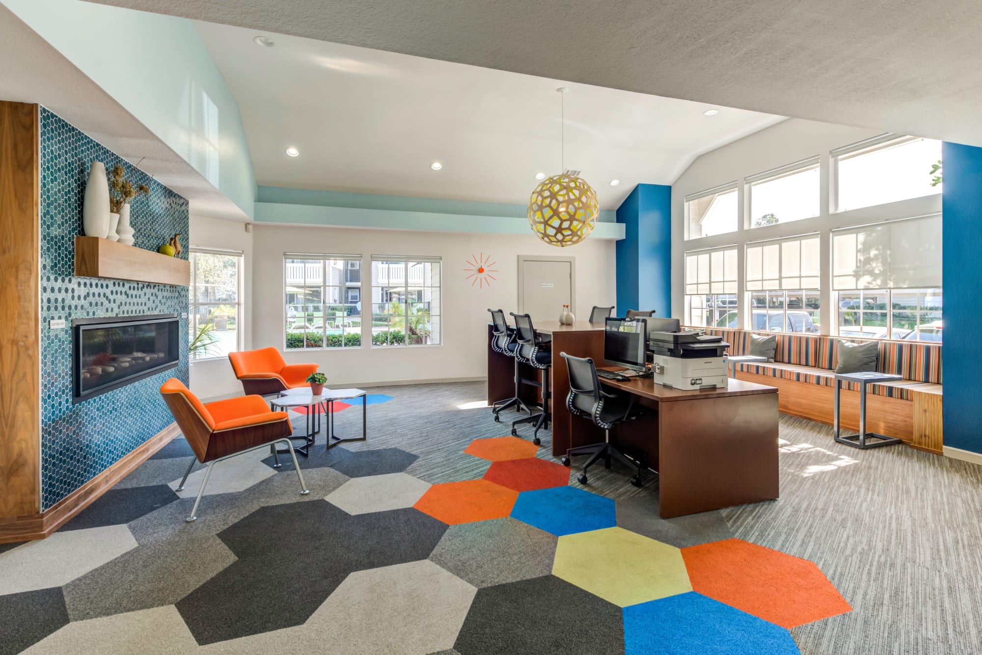 WiFi lounge at Village Oaks in Chino Hills, California