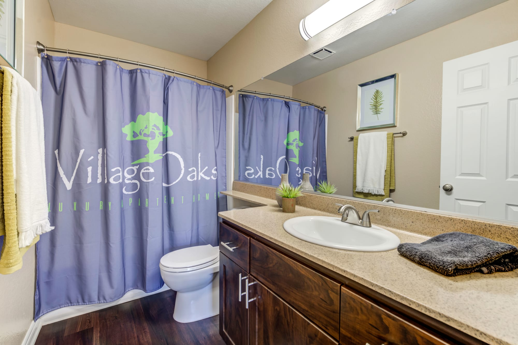 Spacious bathroom with a tub at Village Oaks in Chino Hills, California