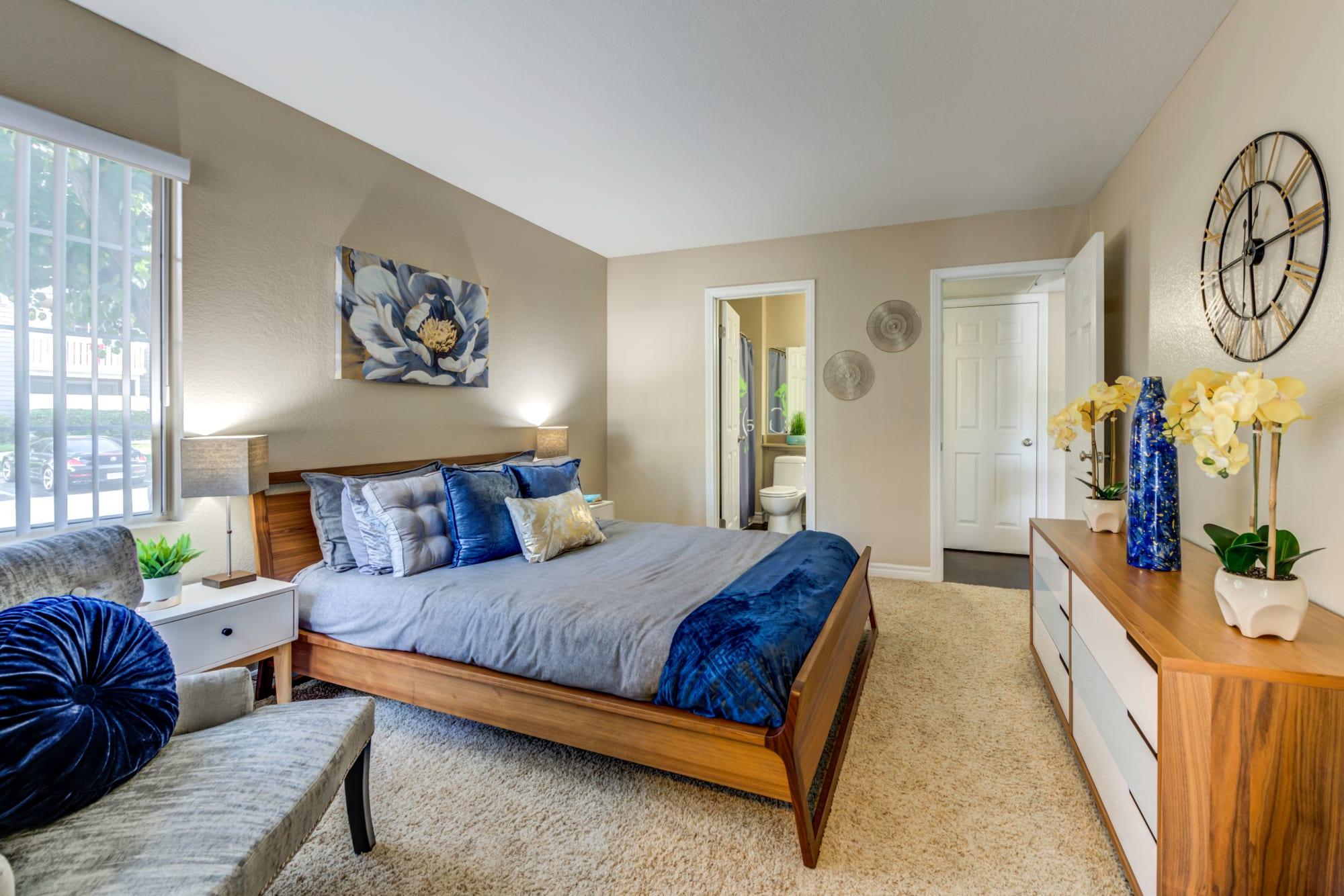 Master Bedroom Furnished at Village Oaks