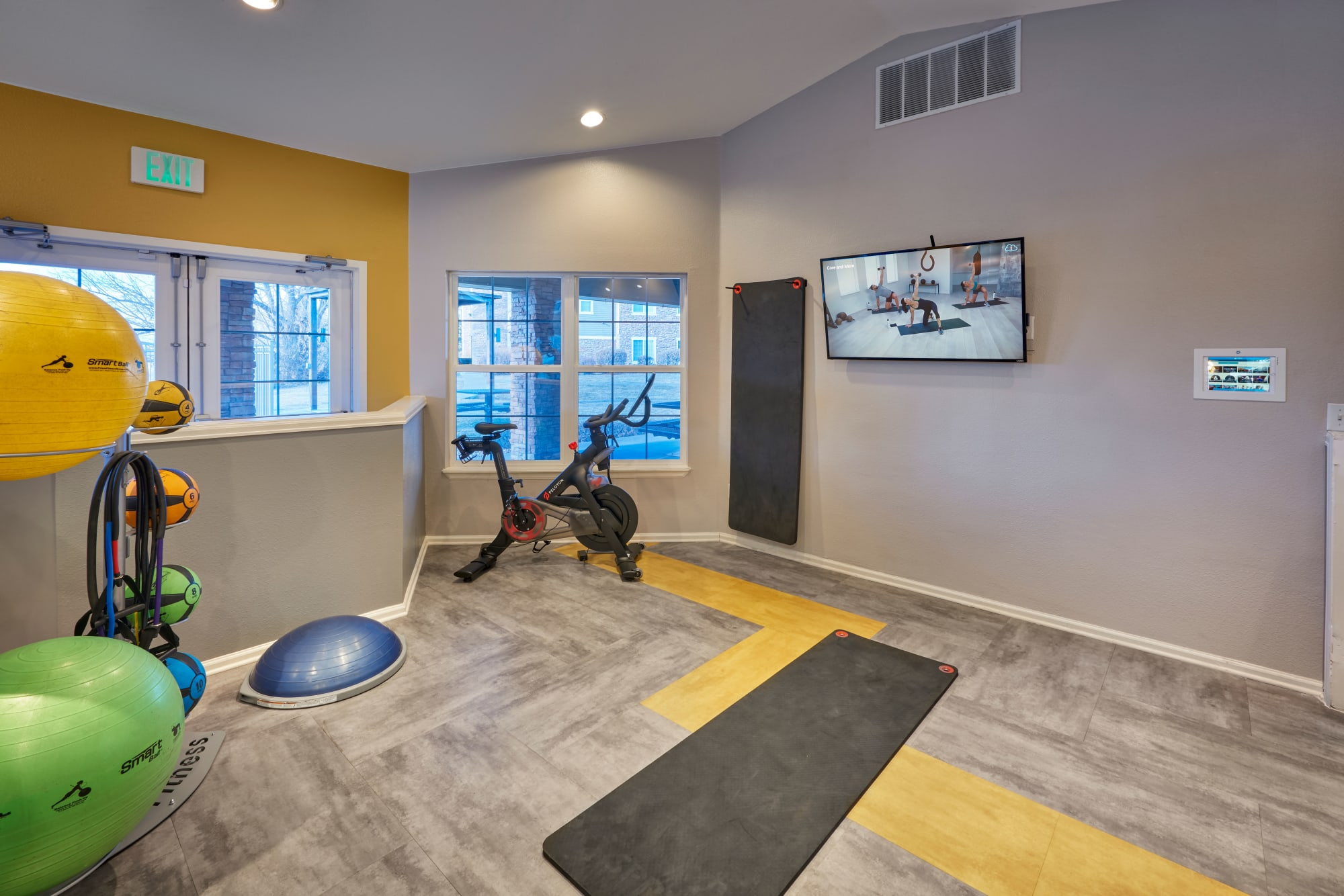 Fitness On Demand room at Westridge Apartments in Aurora, Colorado
