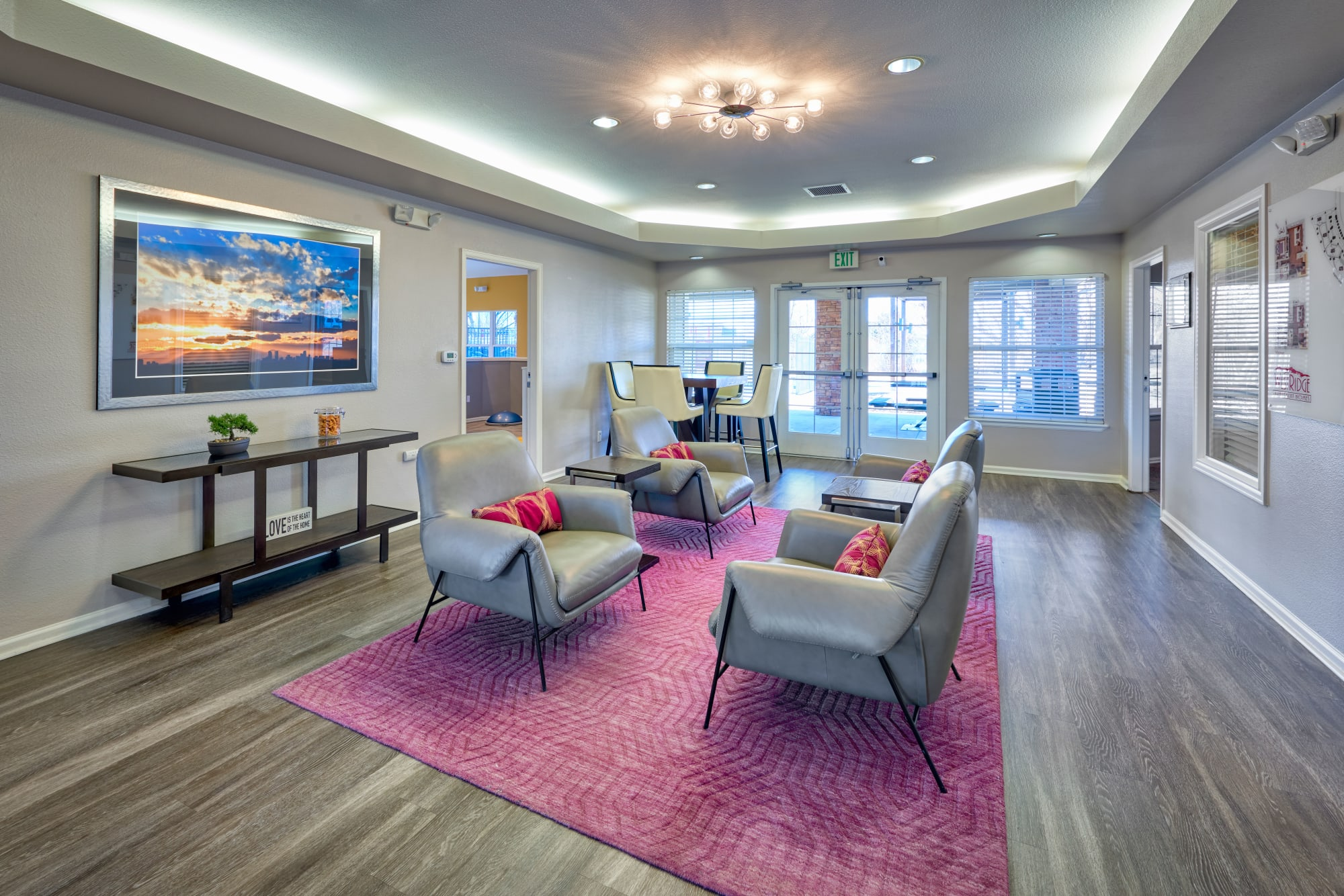 Clubhouse common area at Westridge Apartments in Aurora, Colorado