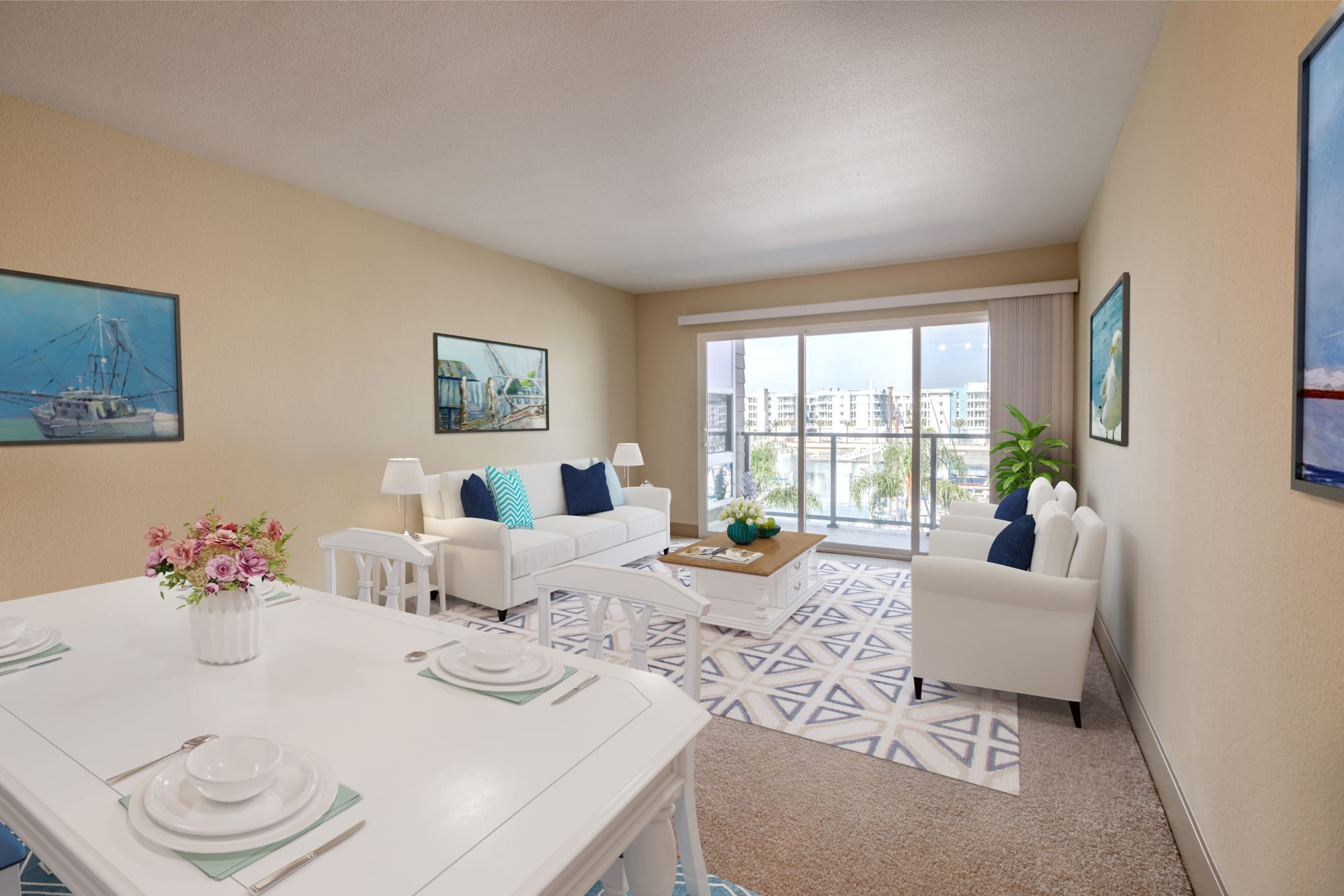 Washer and dryer in units at Harborside Marina Bay Apartments in Marina del Rey, California