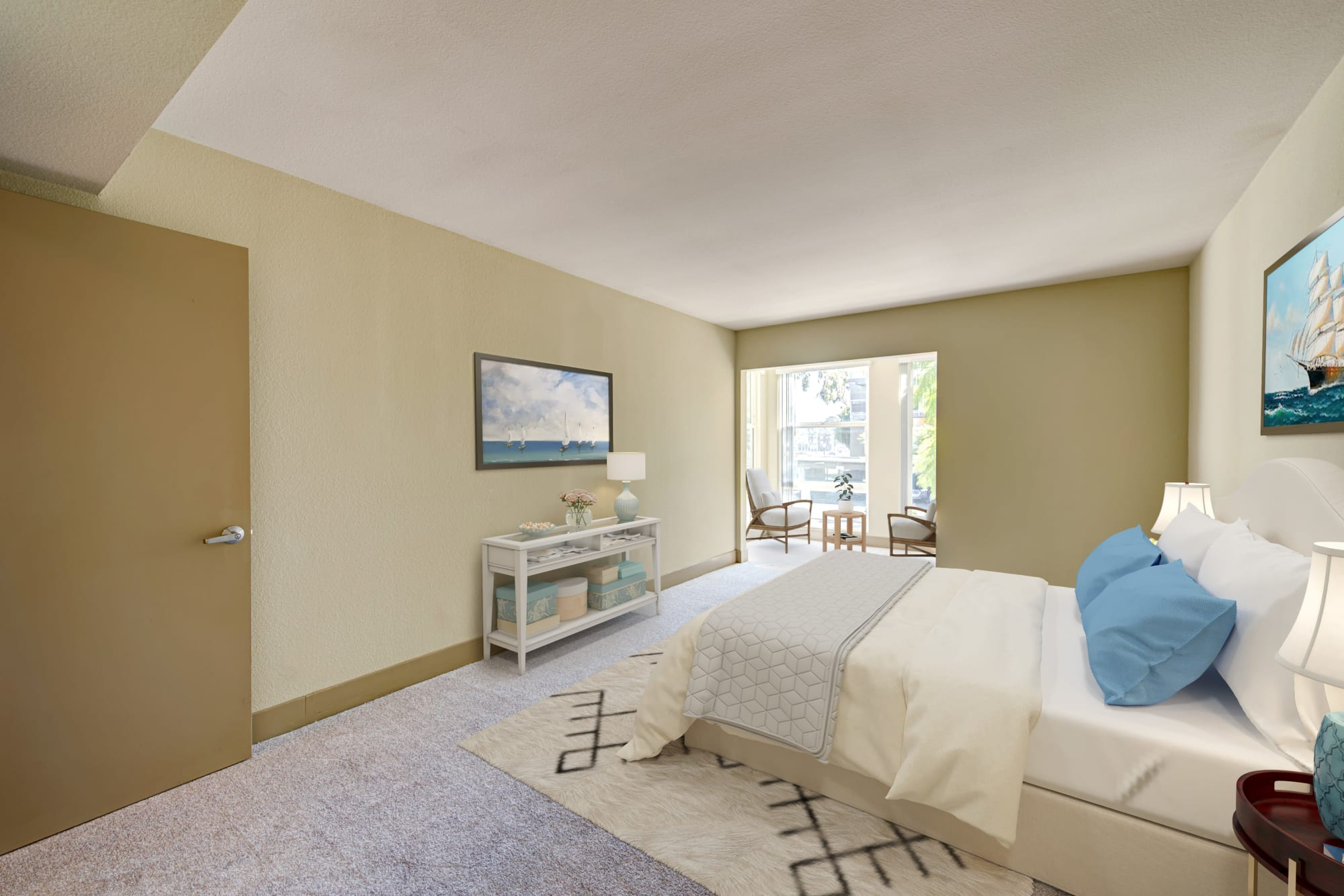 Views from Harborside Marina Bay Apartments in Marina del Rey, California