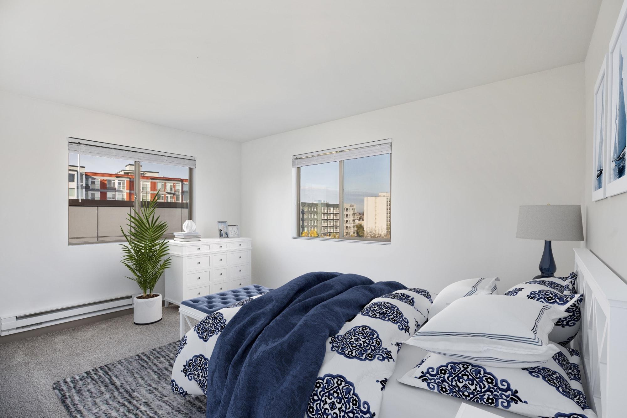 Bedroom at Elan 41 Apartments in Seattle, WA