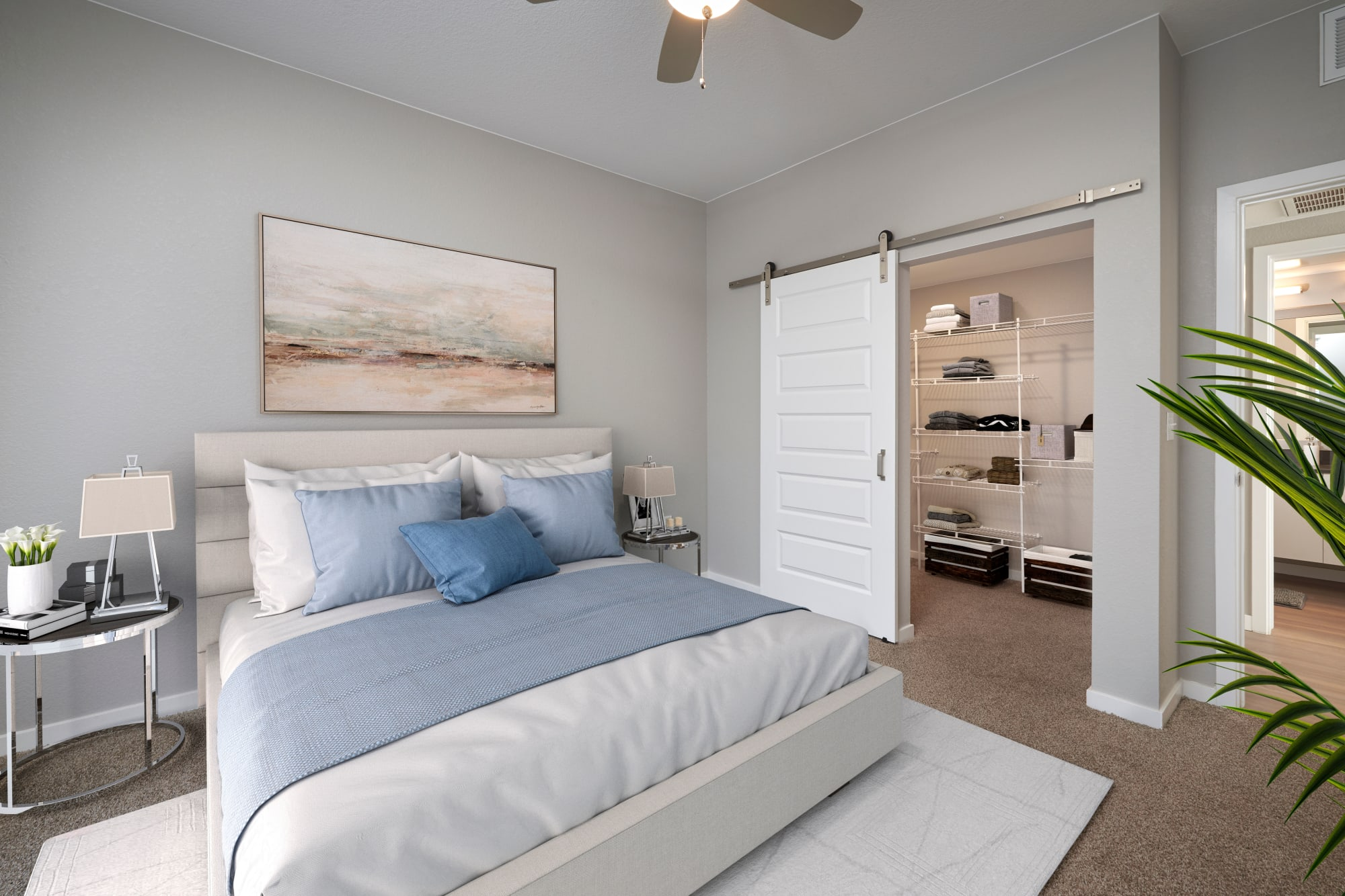 Hawthorne Hill Apartments Model Bedroom