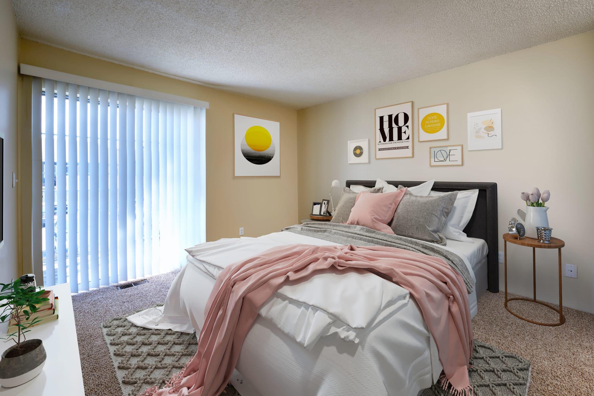 Bedroom at Bluesky Landing Apartments in Lakewood, Colorado