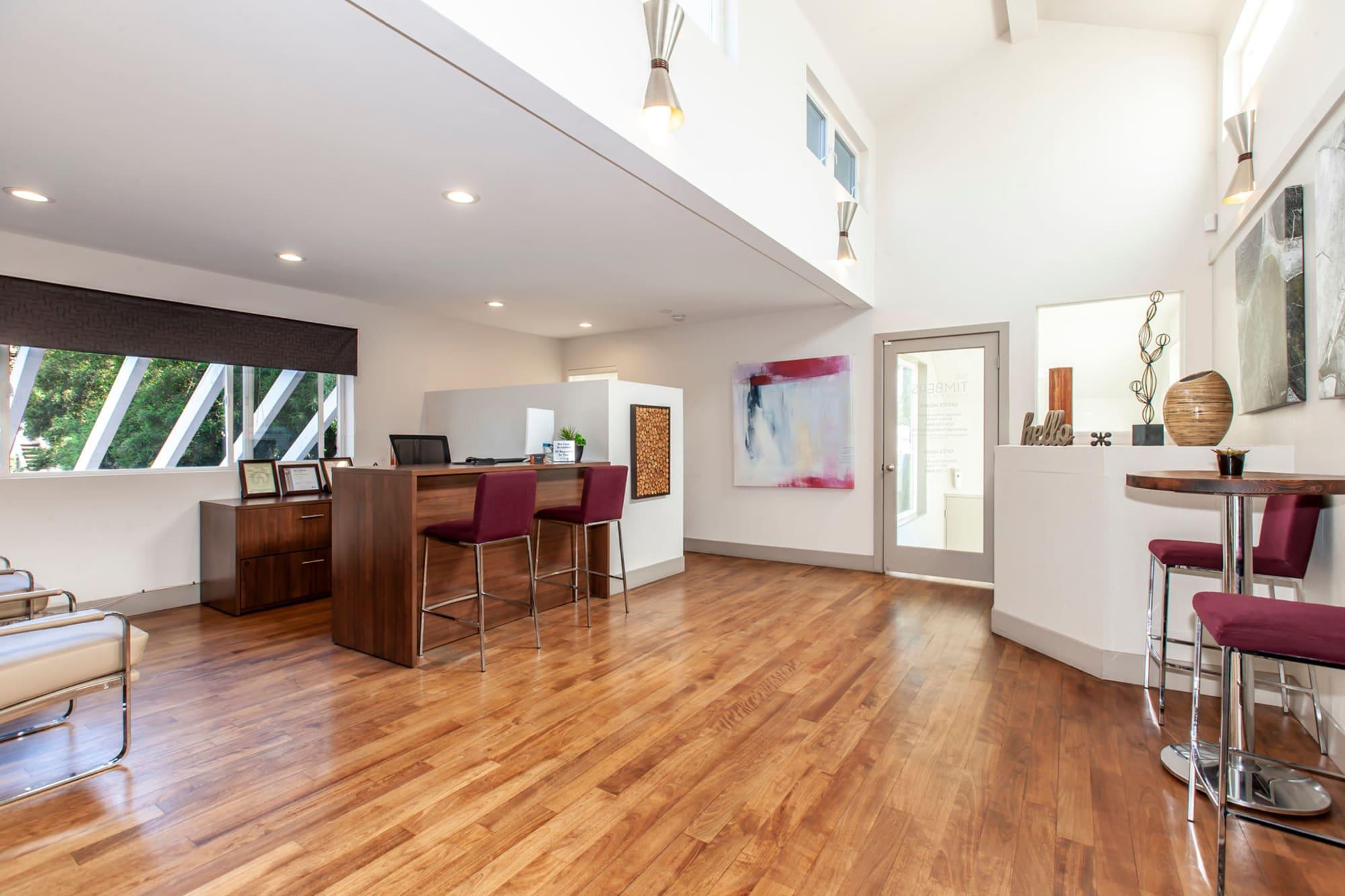 Beautiful office at The Timbers Apartments in Hayward, California