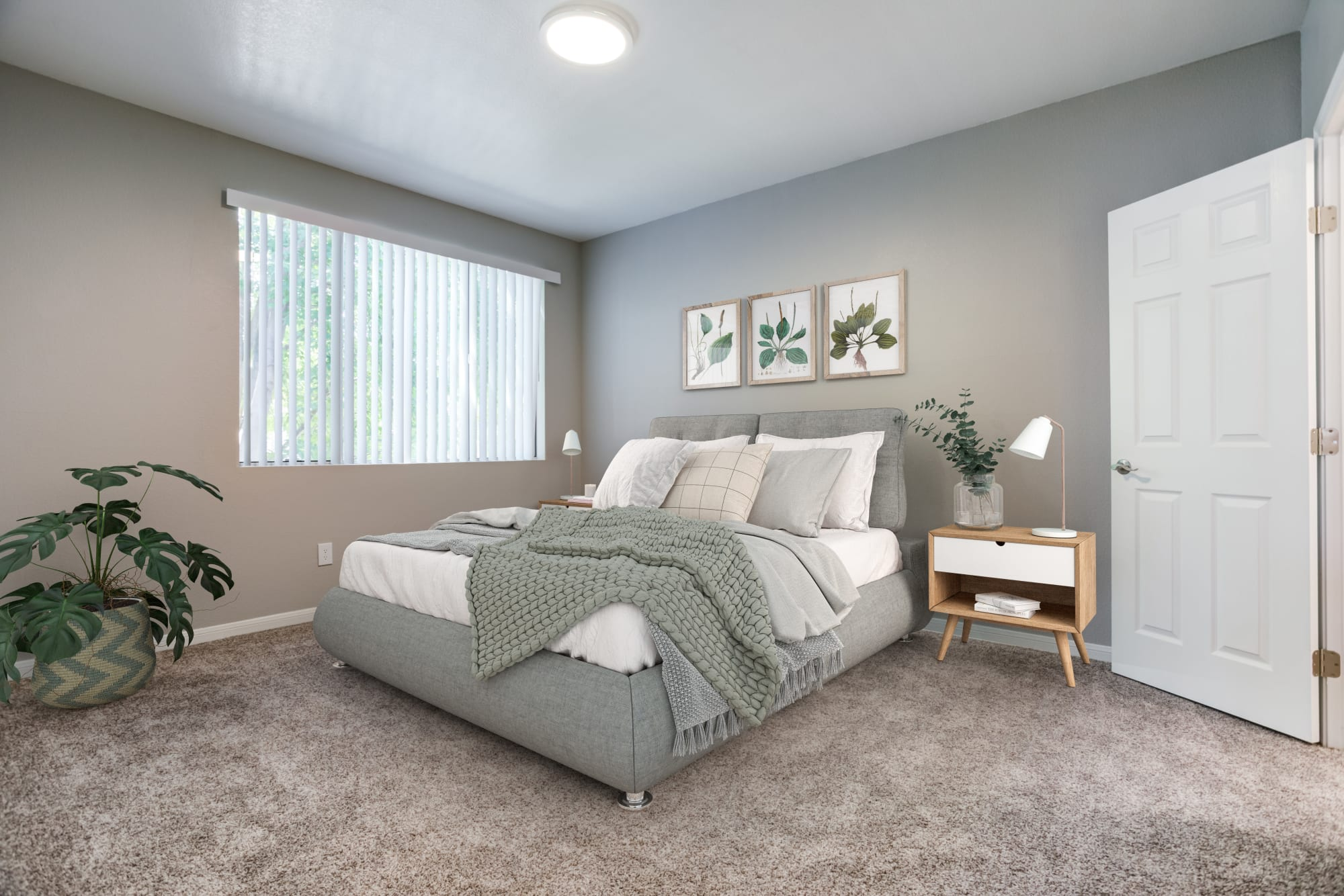 Spacious bedroom at Miramonte and Trovas in Sacramento, California