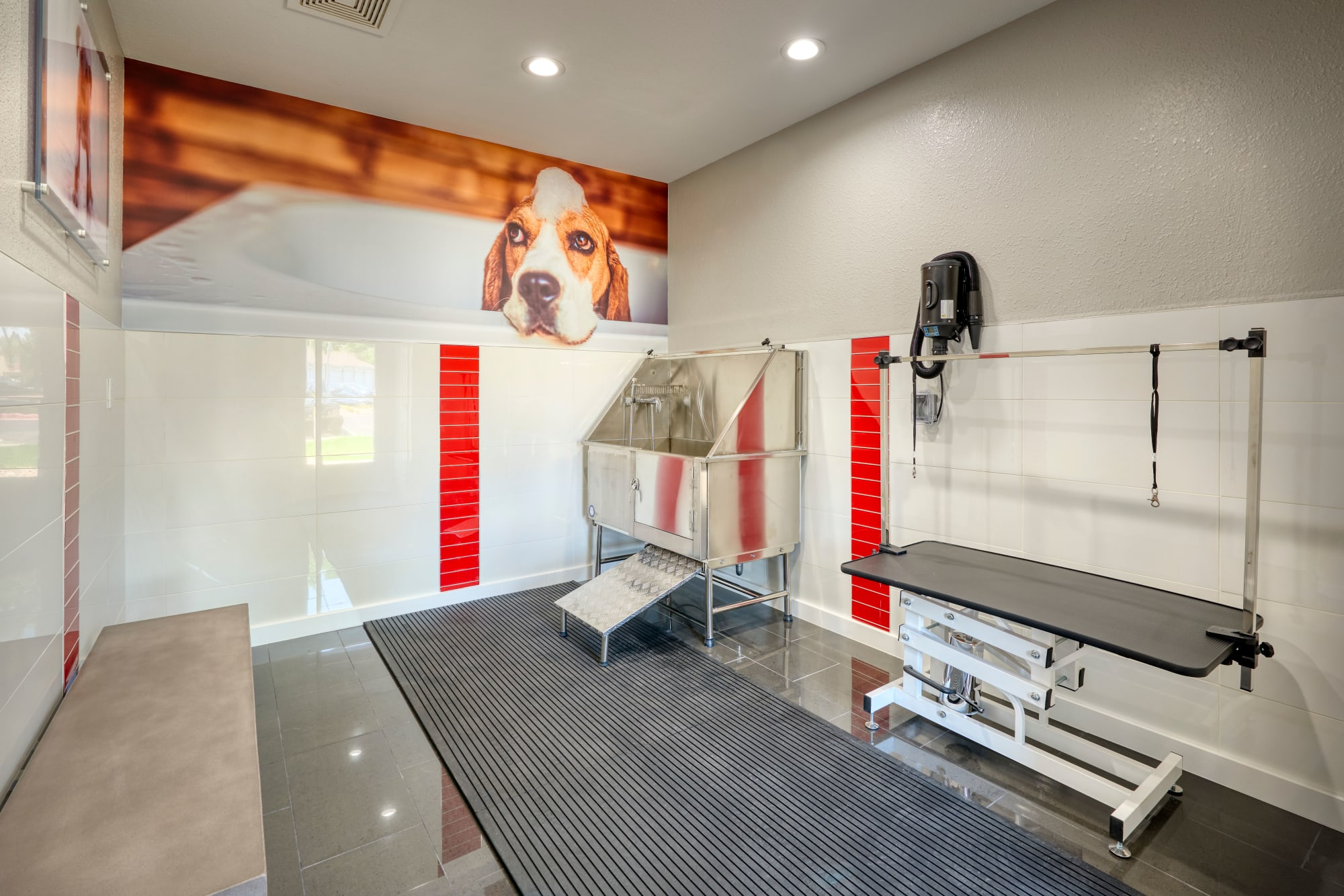Pet wash room at Westridge Apartments in Aurora, CO