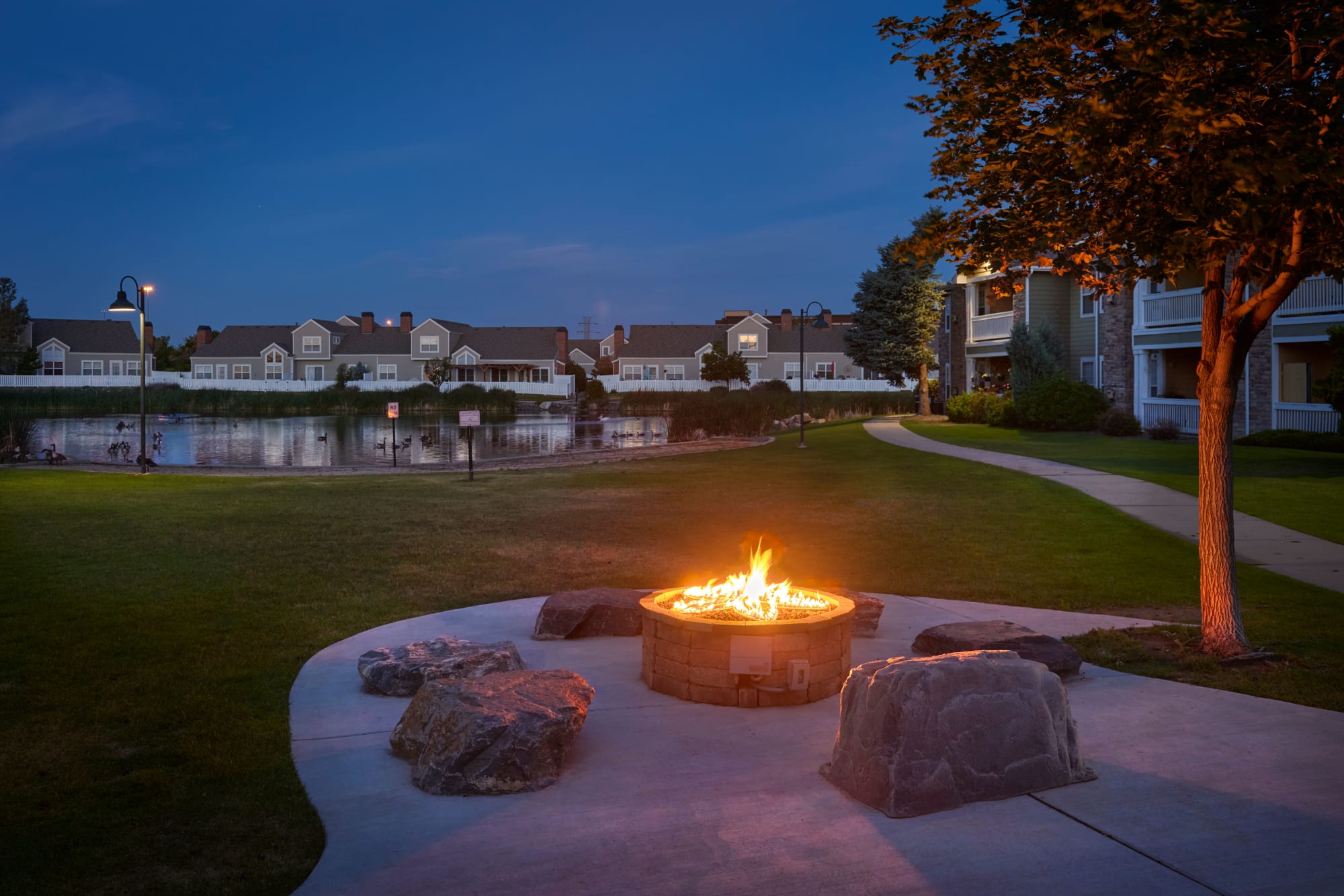 Fire-Pit Lounge at Gateway Park Apartments in Denver, Colorado