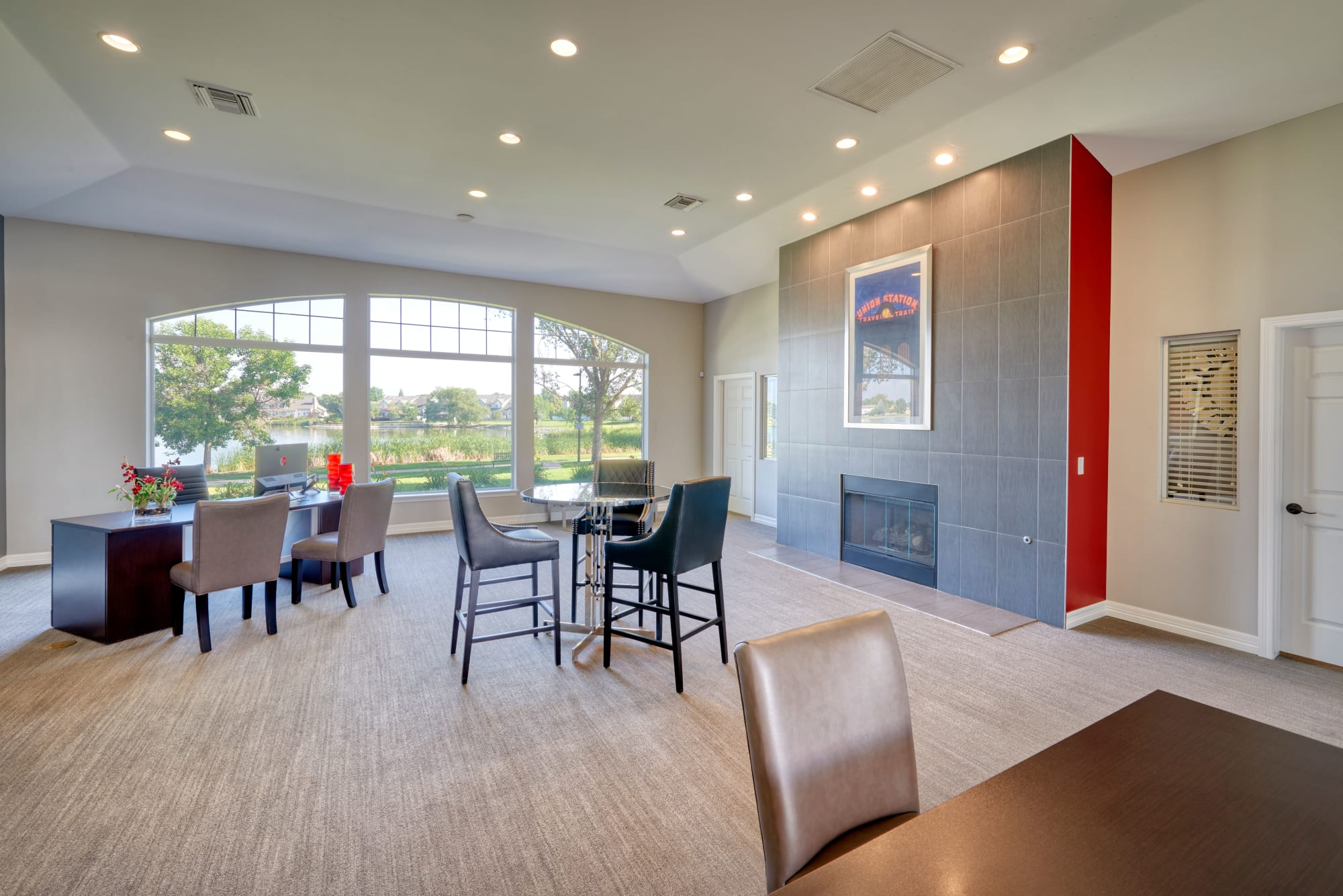 Newly renovated clubhouse at Promenade at Hunter's Glen Apartments in Thornton, Colorado