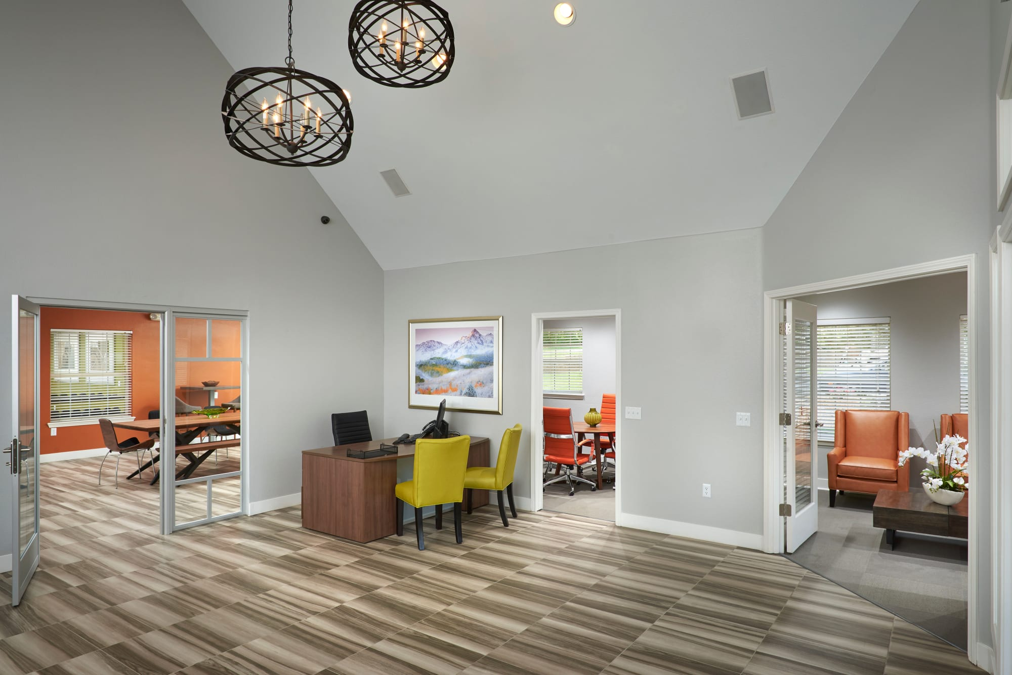 Interior Leasing Office and Clubhouse