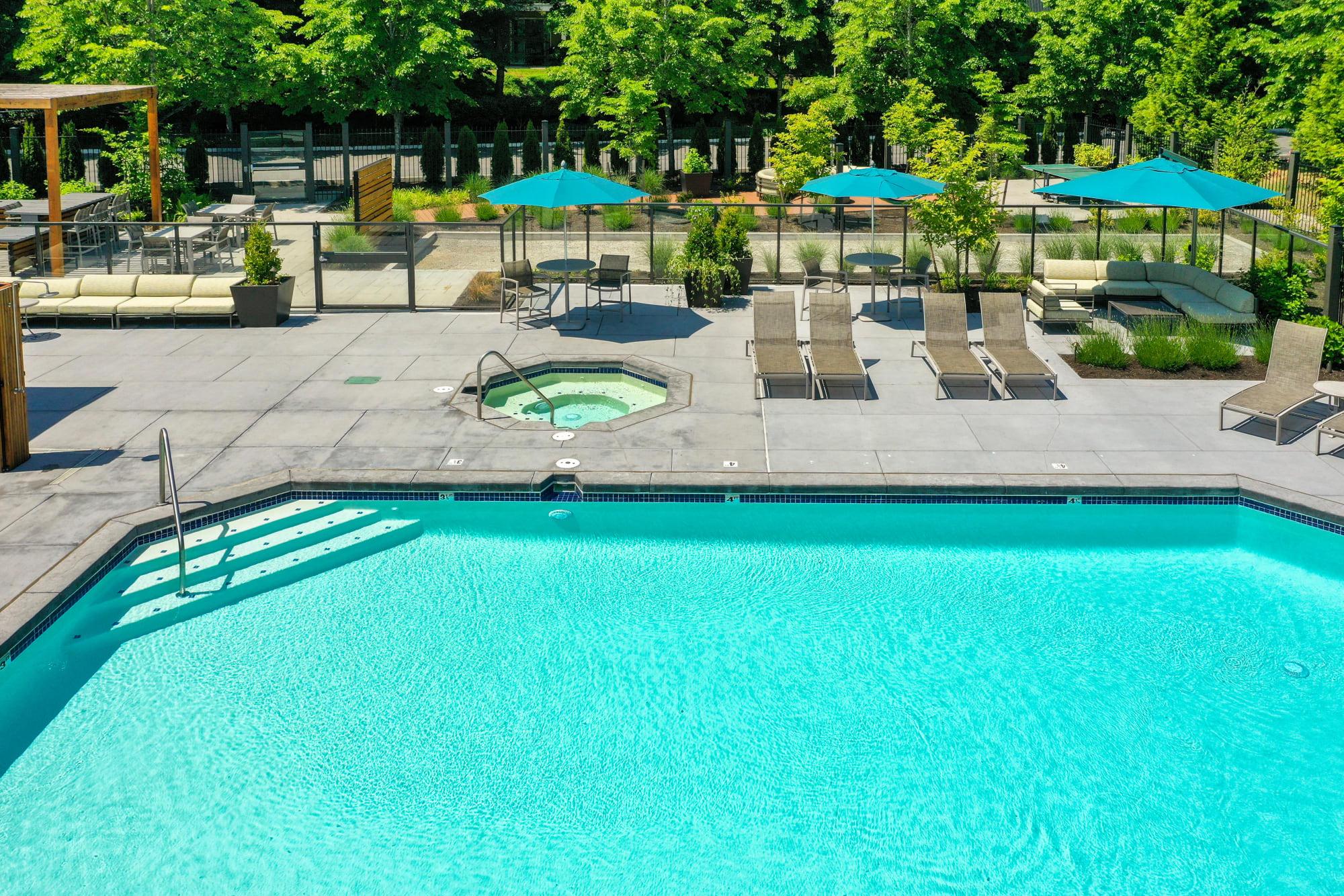 The pool at Brookside Village in Auburn, Washington
