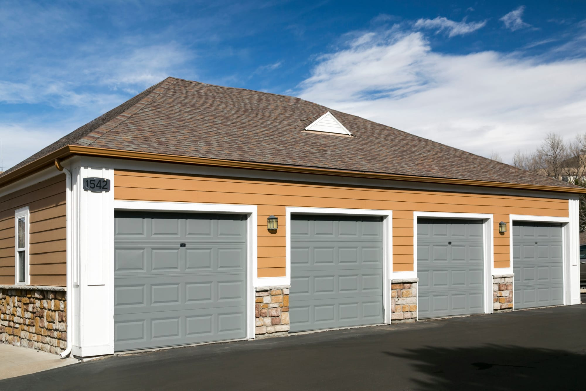 Garages at Crestone Apartments in Aurora, Colorado