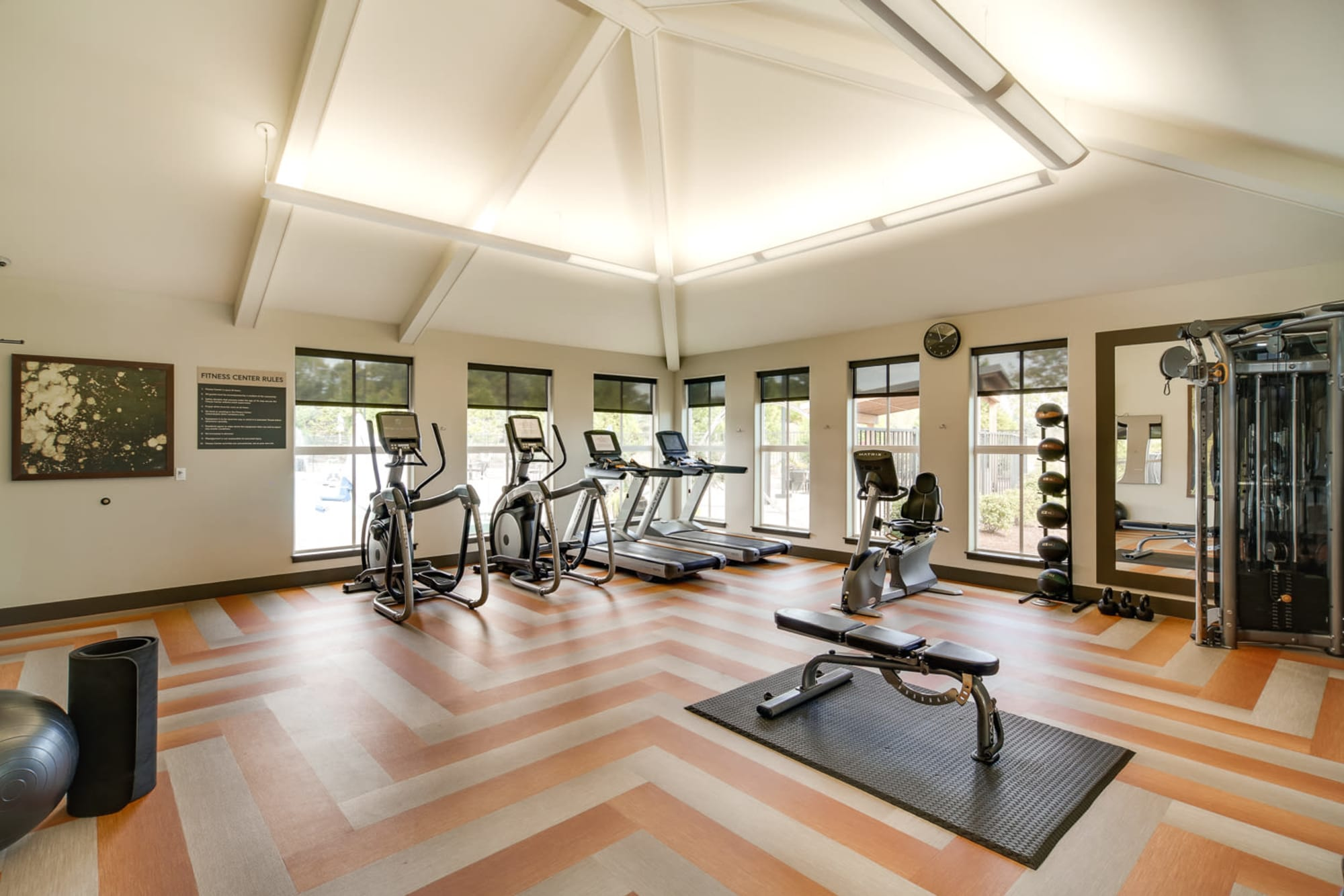 Fully-equipped Fitness Center at Terrene at the Grove