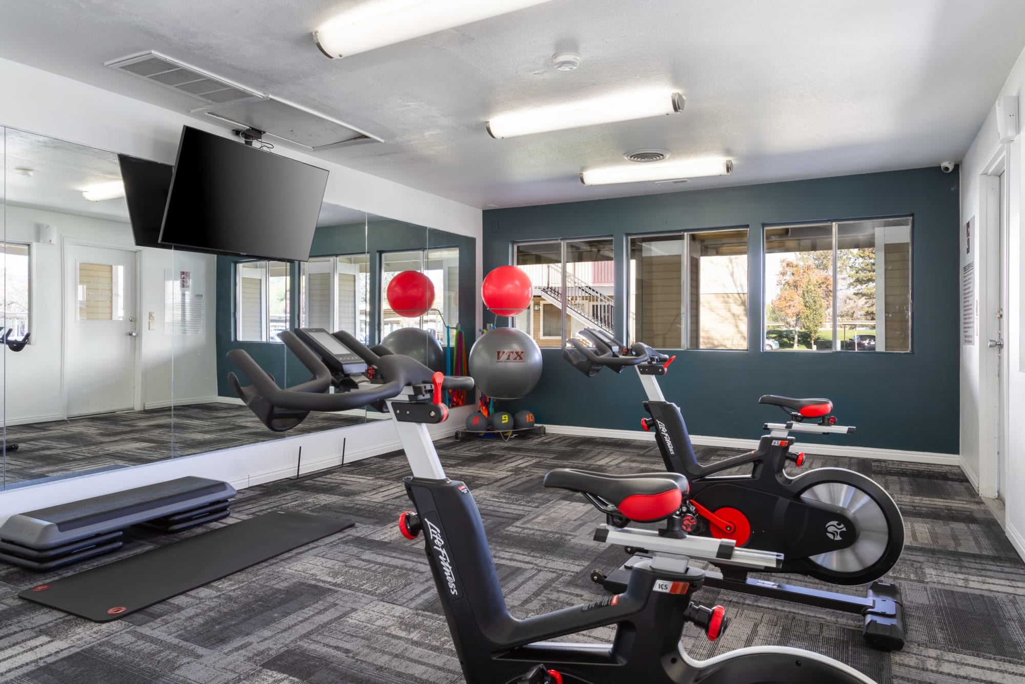 Fitness on Demand Room at Callaway Apartments in Taylorsville, Utah