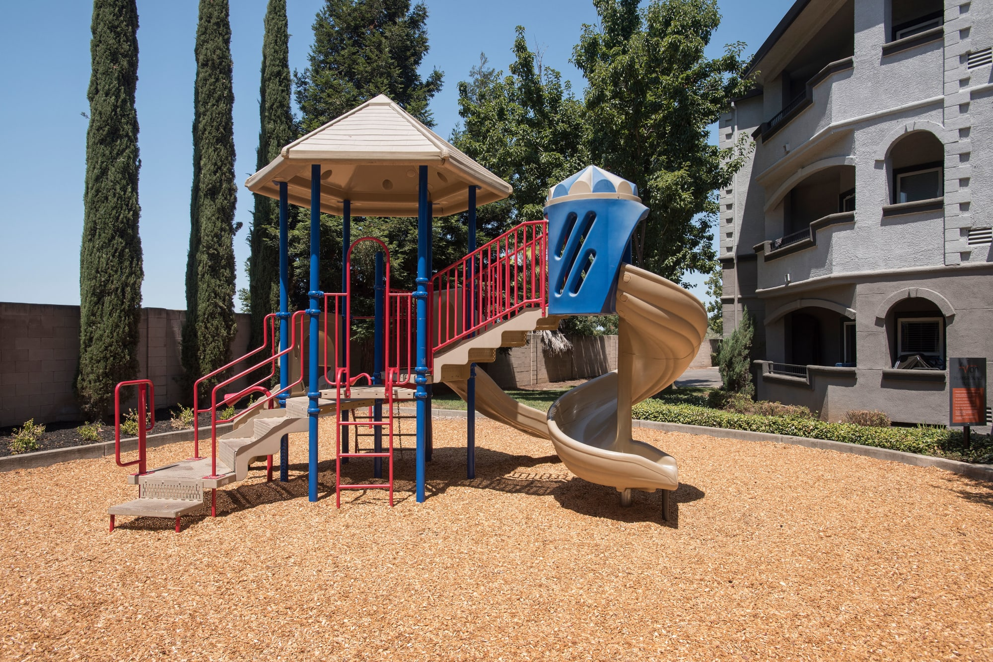 Community playground in Rancho Cordova, California at Avion Apartments